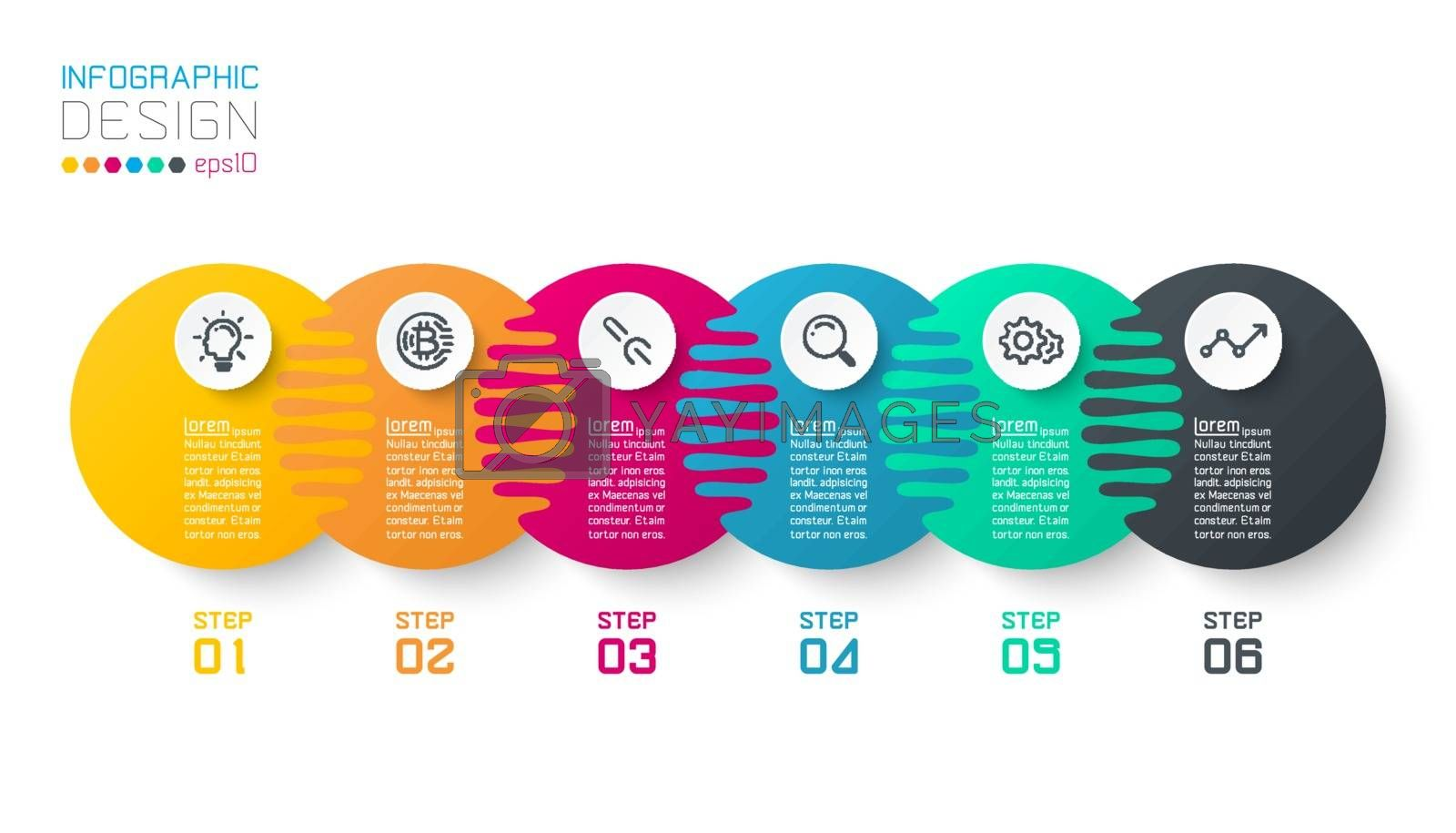 Sic harmonious circle infographics. by narinbg