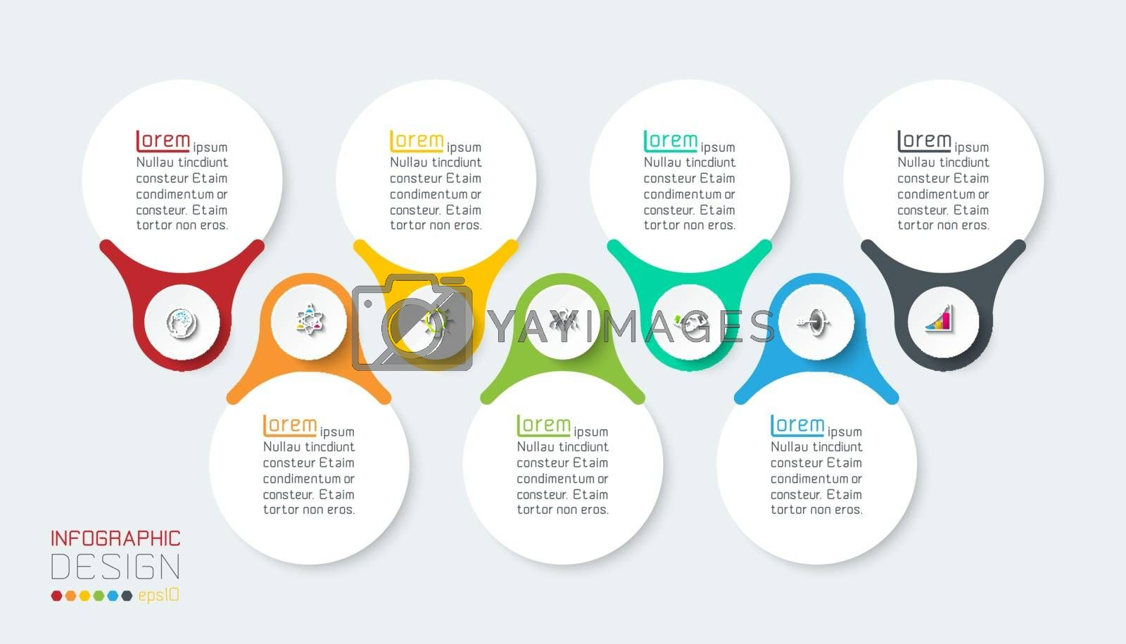 Seven vertical infographics bar. by narinbg