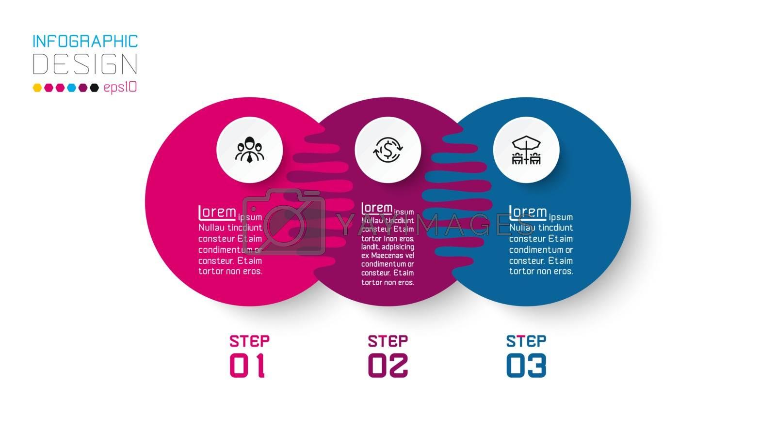 Three harmonious circle infographics. by narinbg