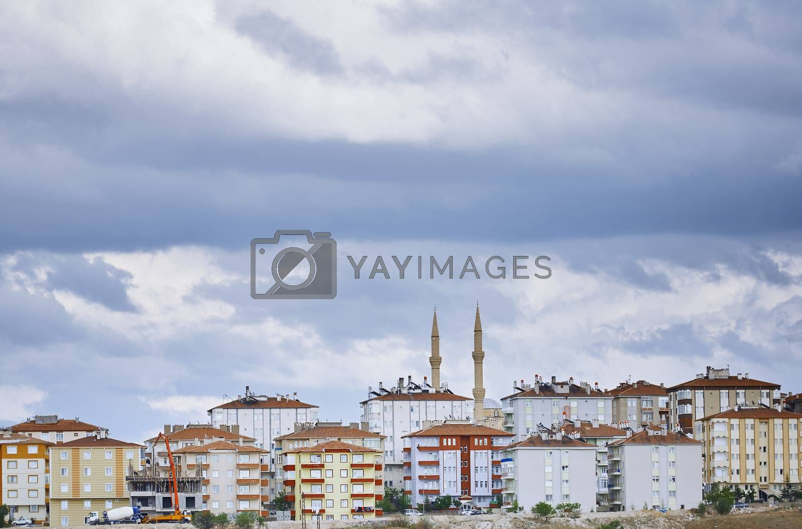 Residential buildings in Istanbul province. Turkey