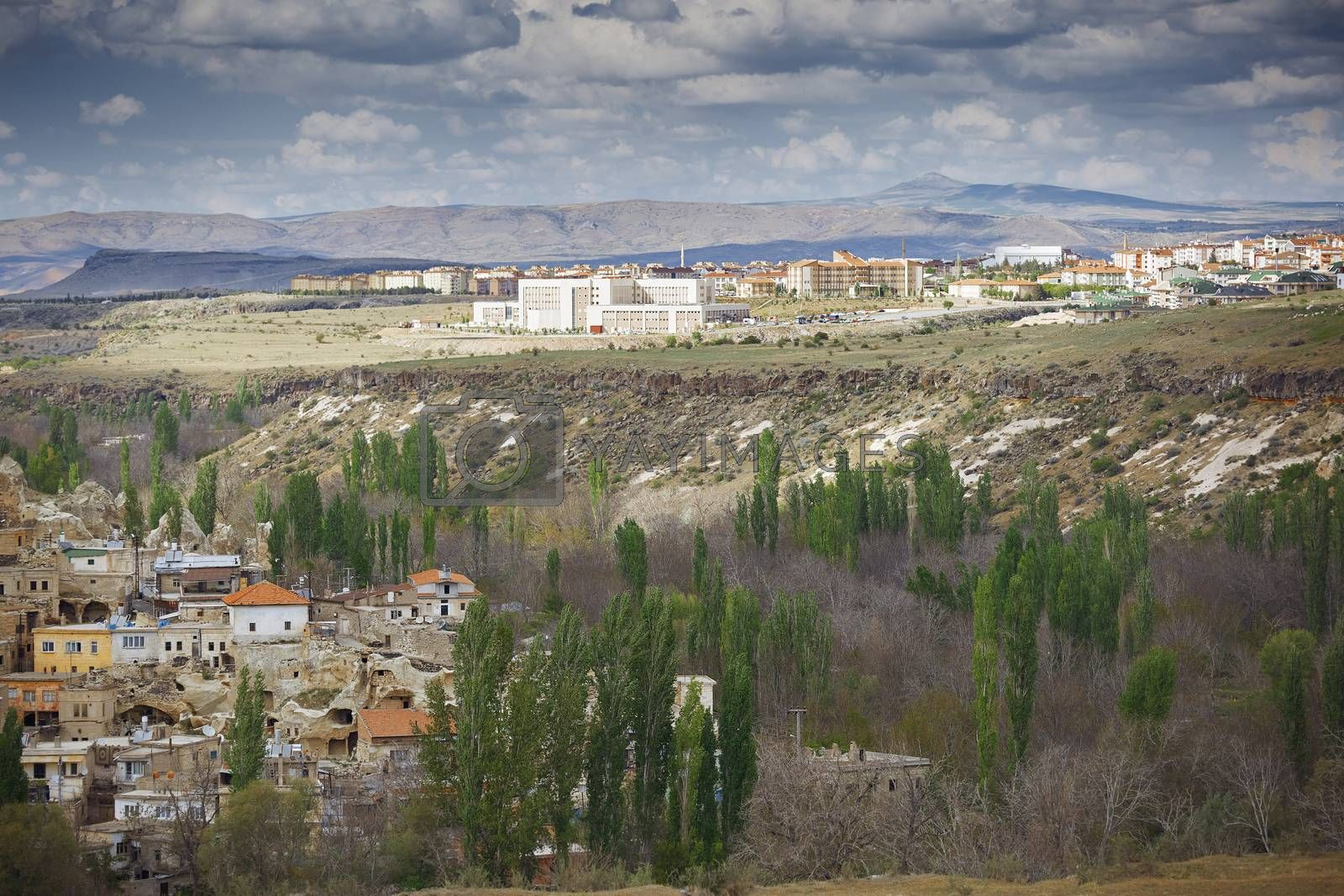 Residential buildings in rural province of Turkey