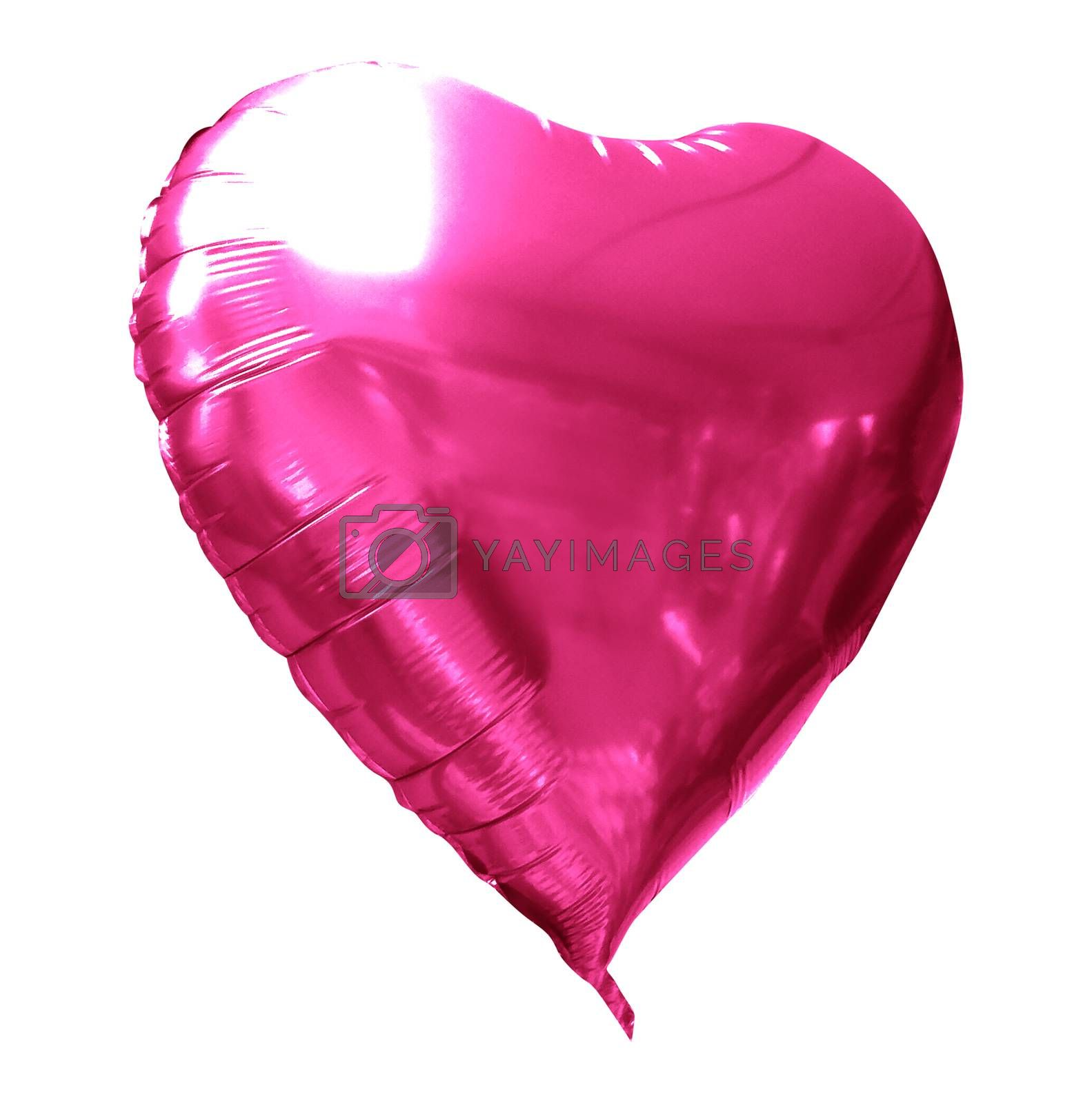 Love Baloon isolated on white, Ballon heart : red valentine love concept, Valentines day. ısolated.