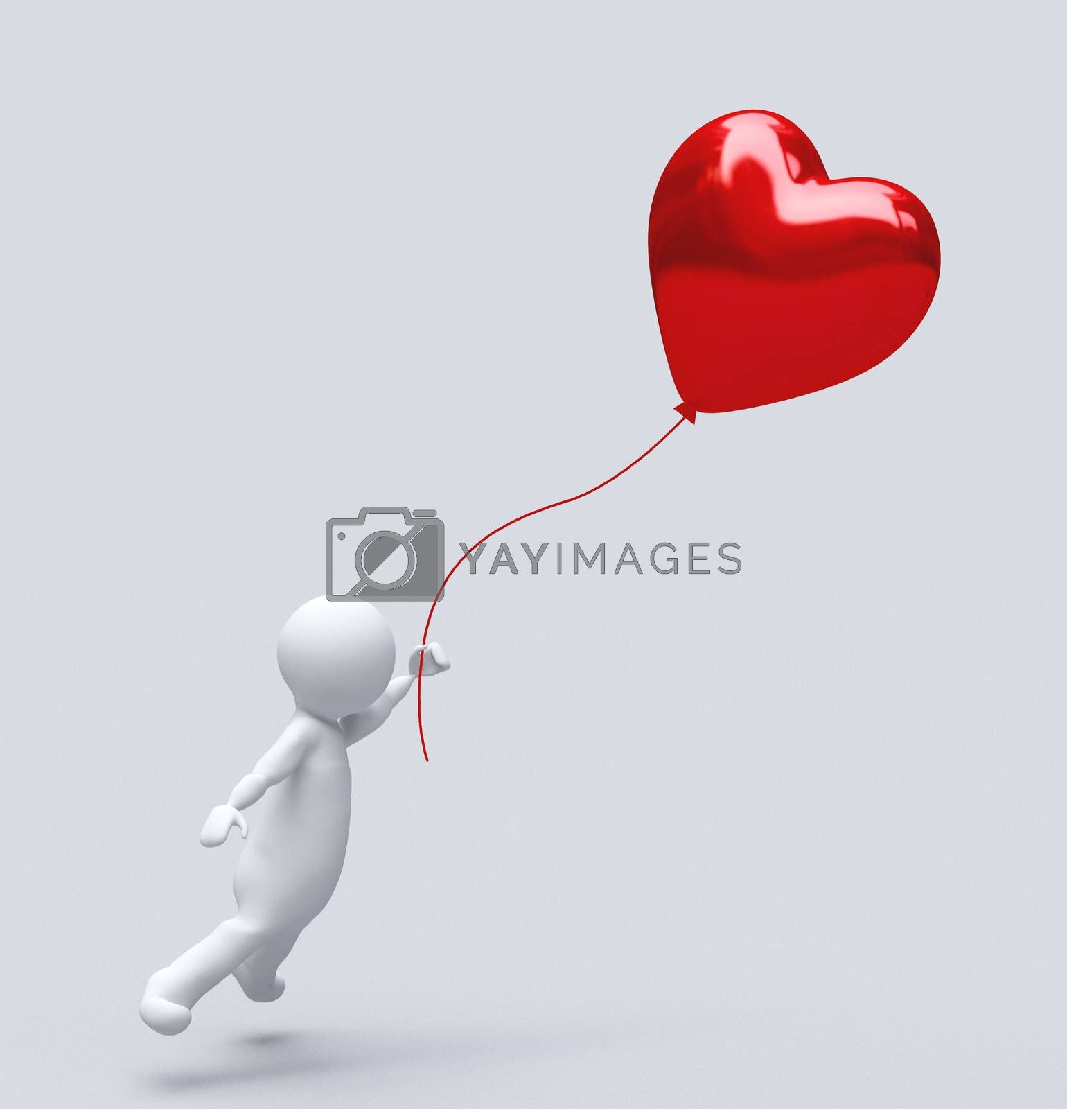 Love Baloon isolated on white, Ballon heart : red valentine love concept, Valentines day. ısolated. by hakankacar2014