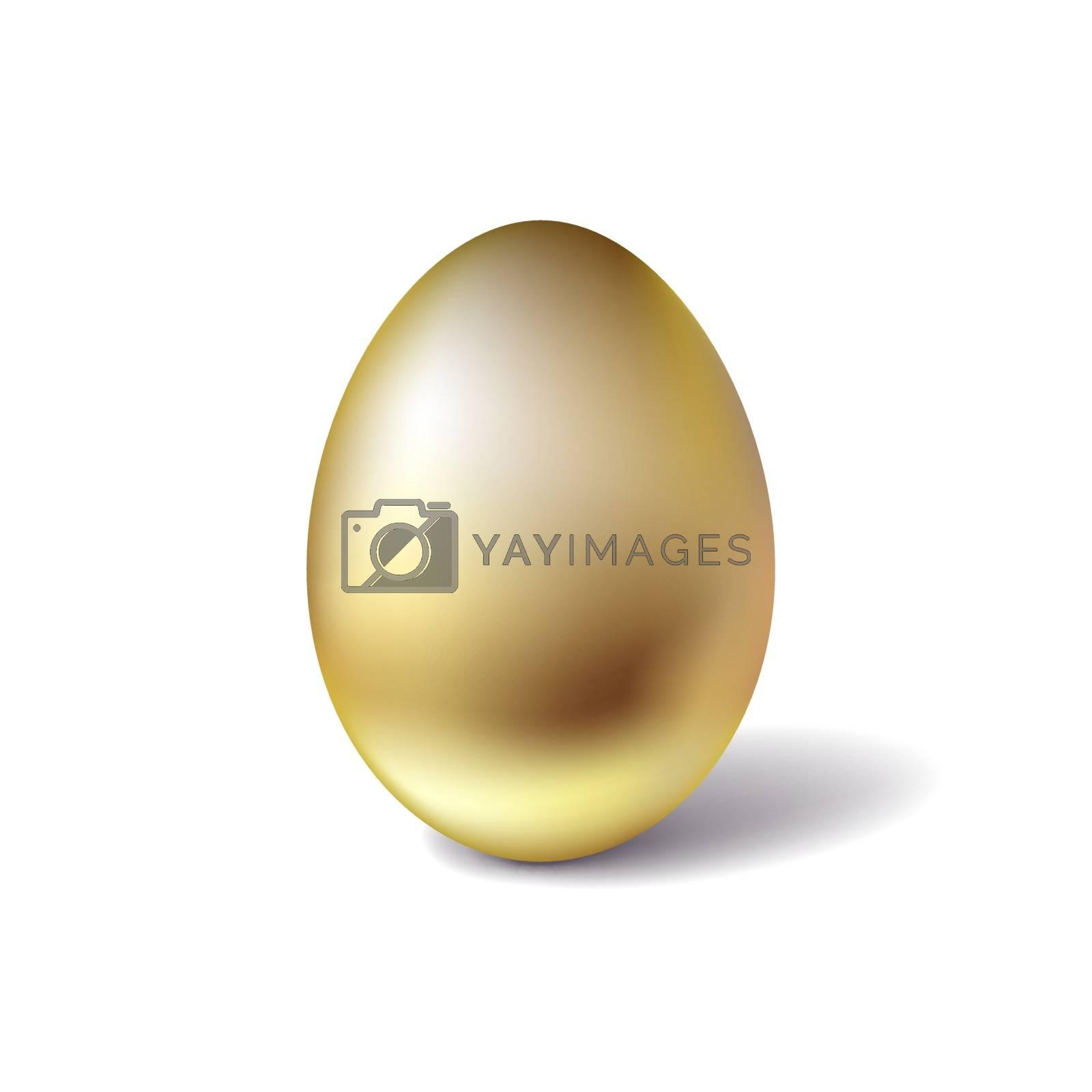 Golden egg. Easter symbol. Spring traditional holidays.