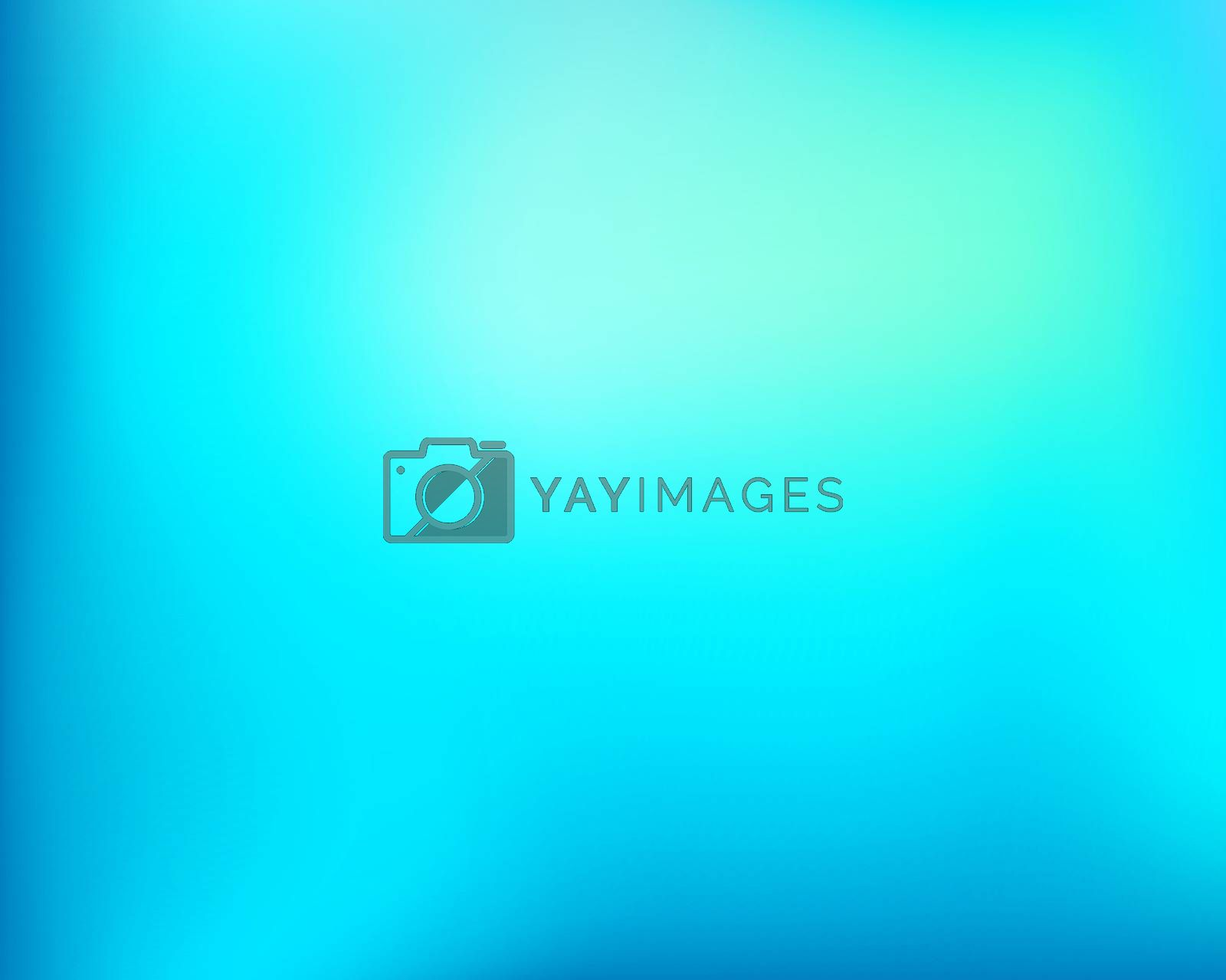 Abstract light blue bright blured gradient background. Vector llustration.