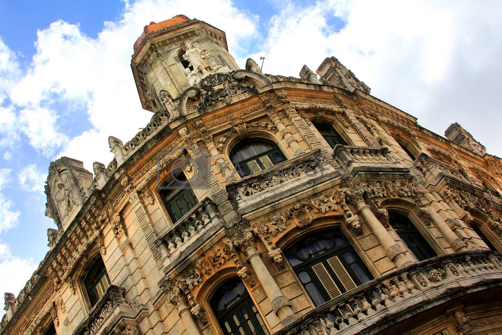 Royalty free image of Facade of a beautiful building in Old Havana by friday