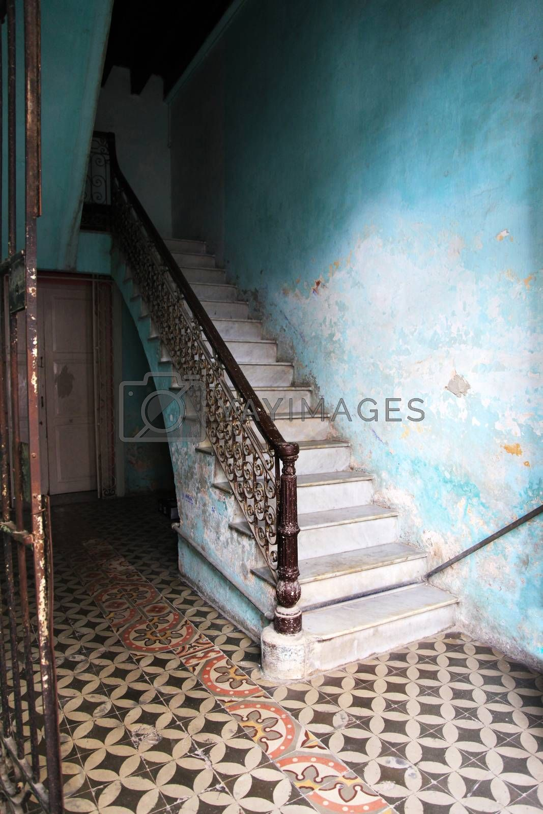 Royalty free image of Staircase in a house in Old Havana, Cuba by friday