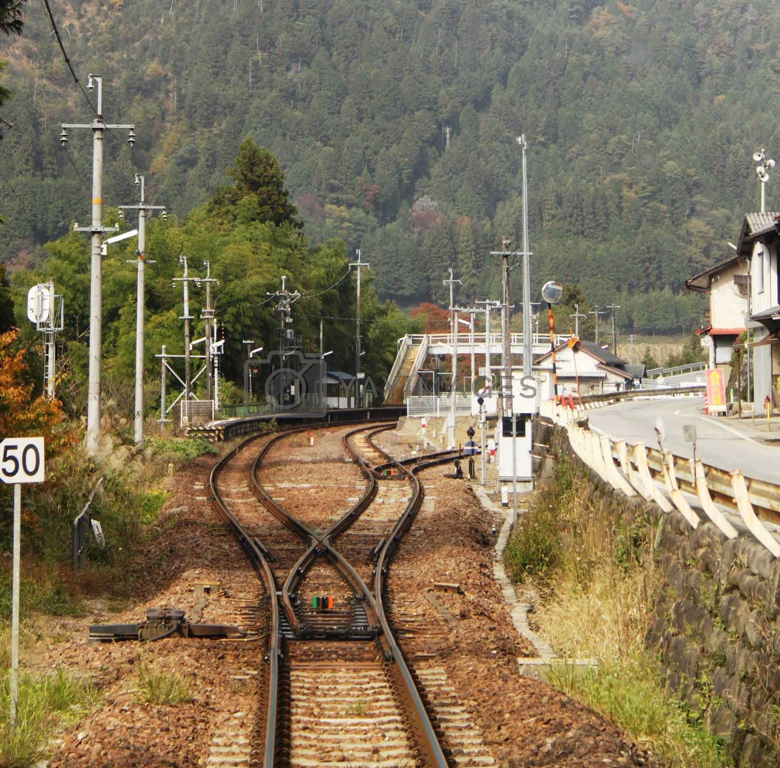 Train tracks to Takayama