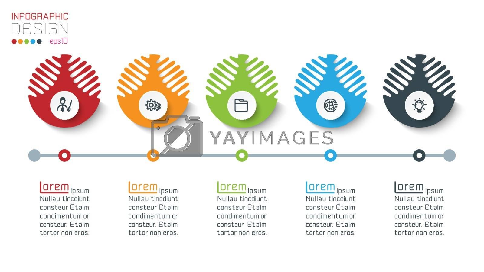 Five harmonious circle infographics. by narinbg
