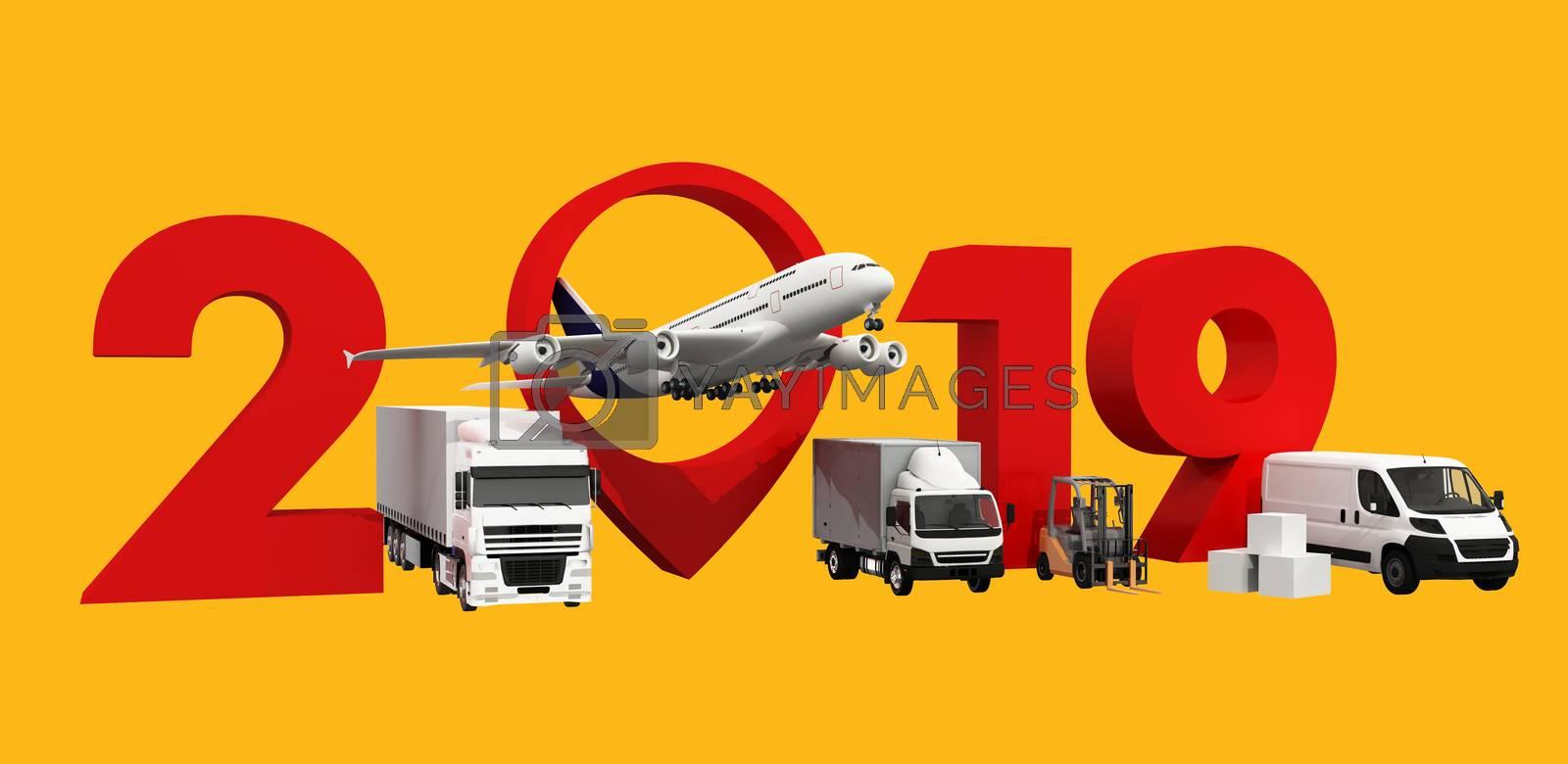 3D illustration, world wide cargo transport concept. by hakankacar2014