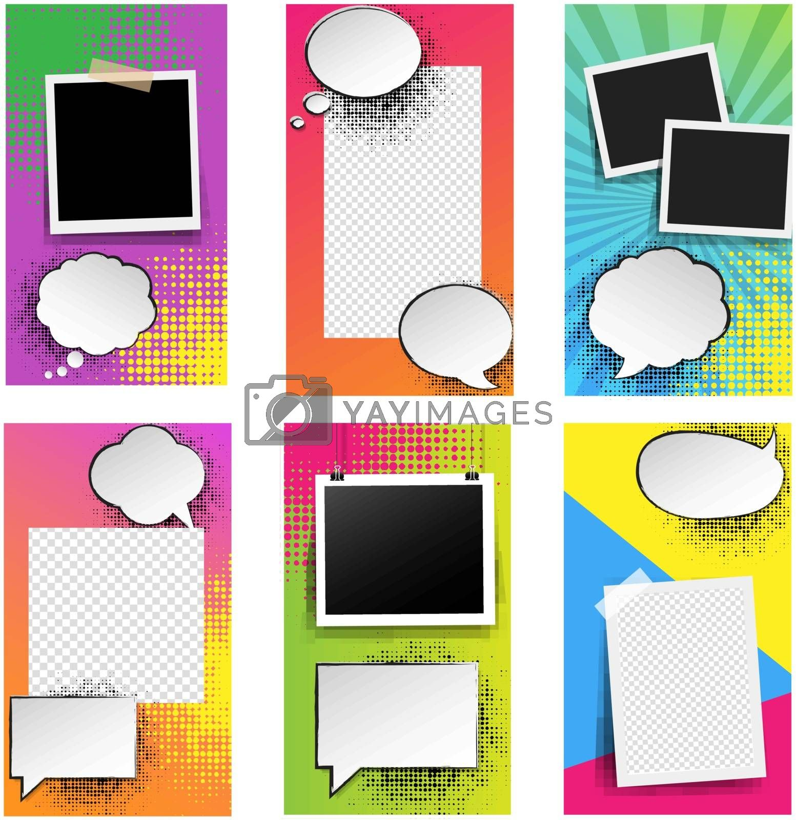 Template For Social Networks Stories Isolated White background by cammep