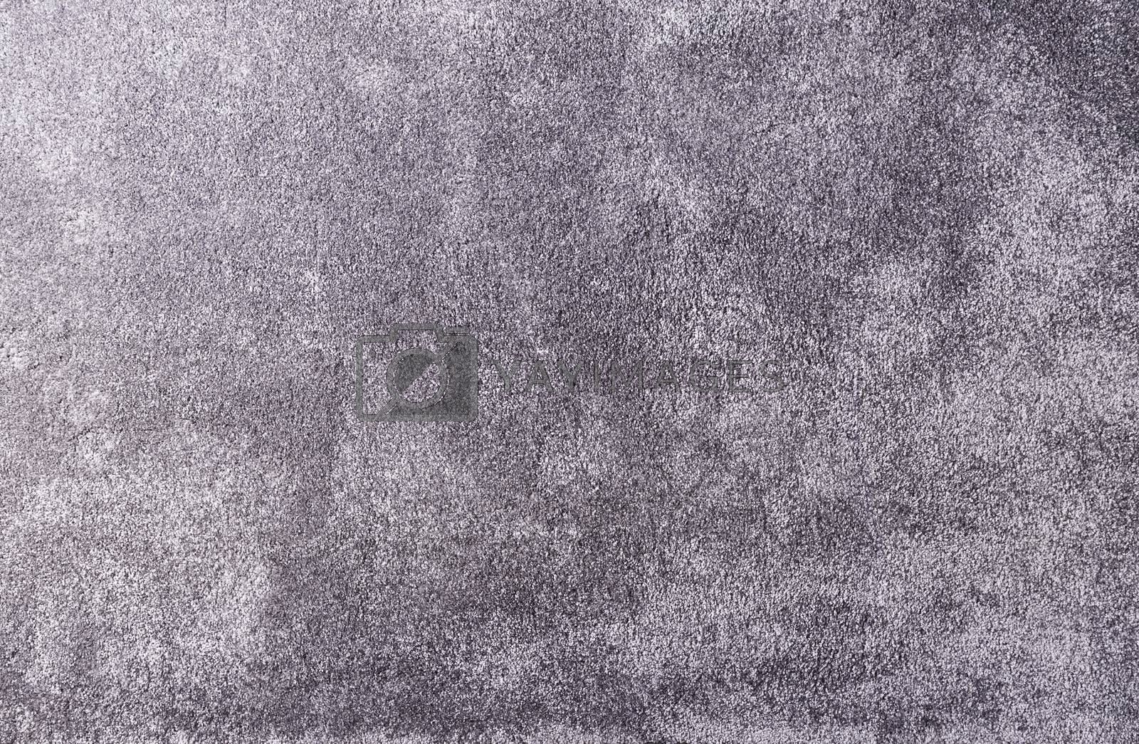 Grey carpet texture close up, indoors interior design