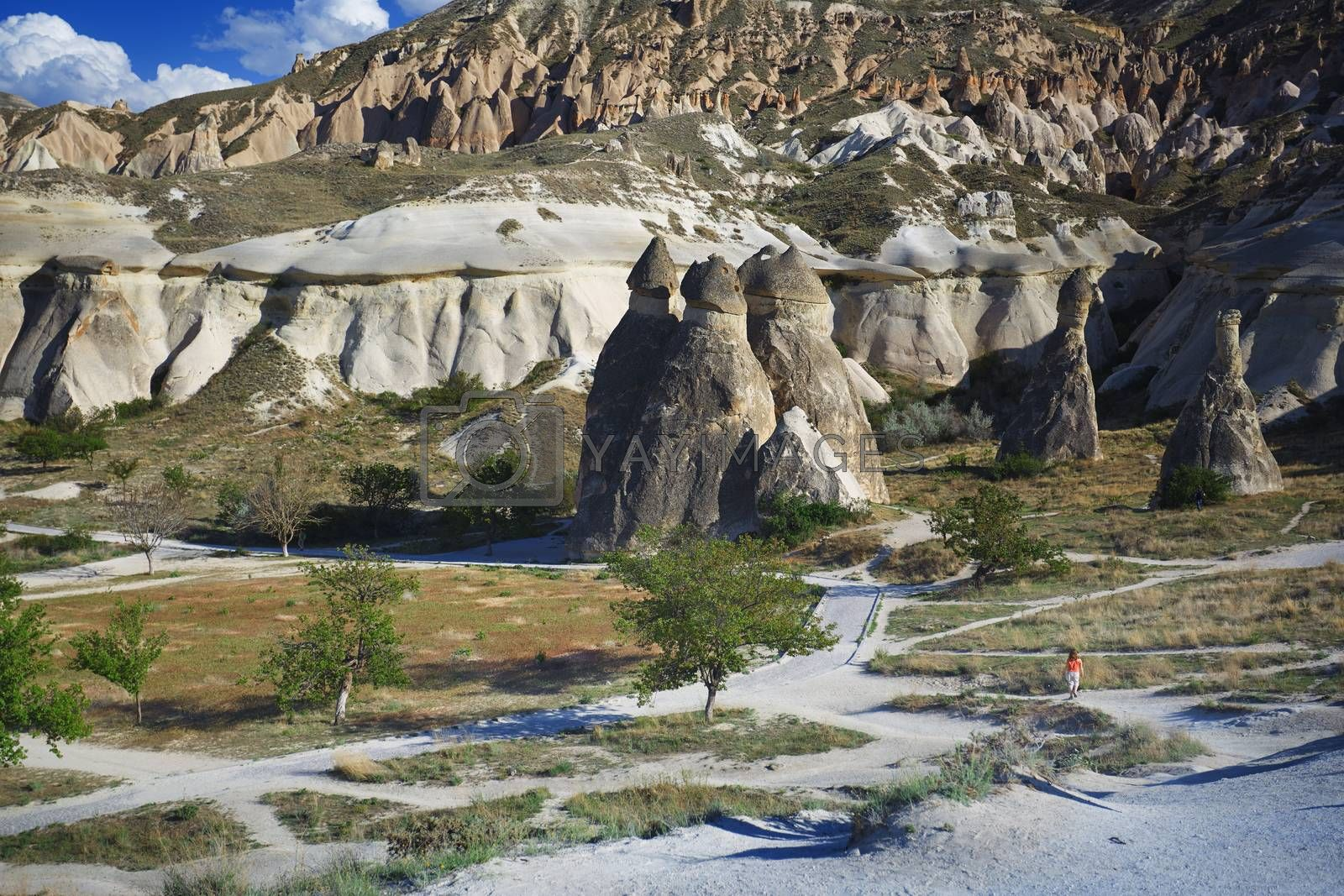 Limestone and tuff rock formations in Cappadocia by Novic
