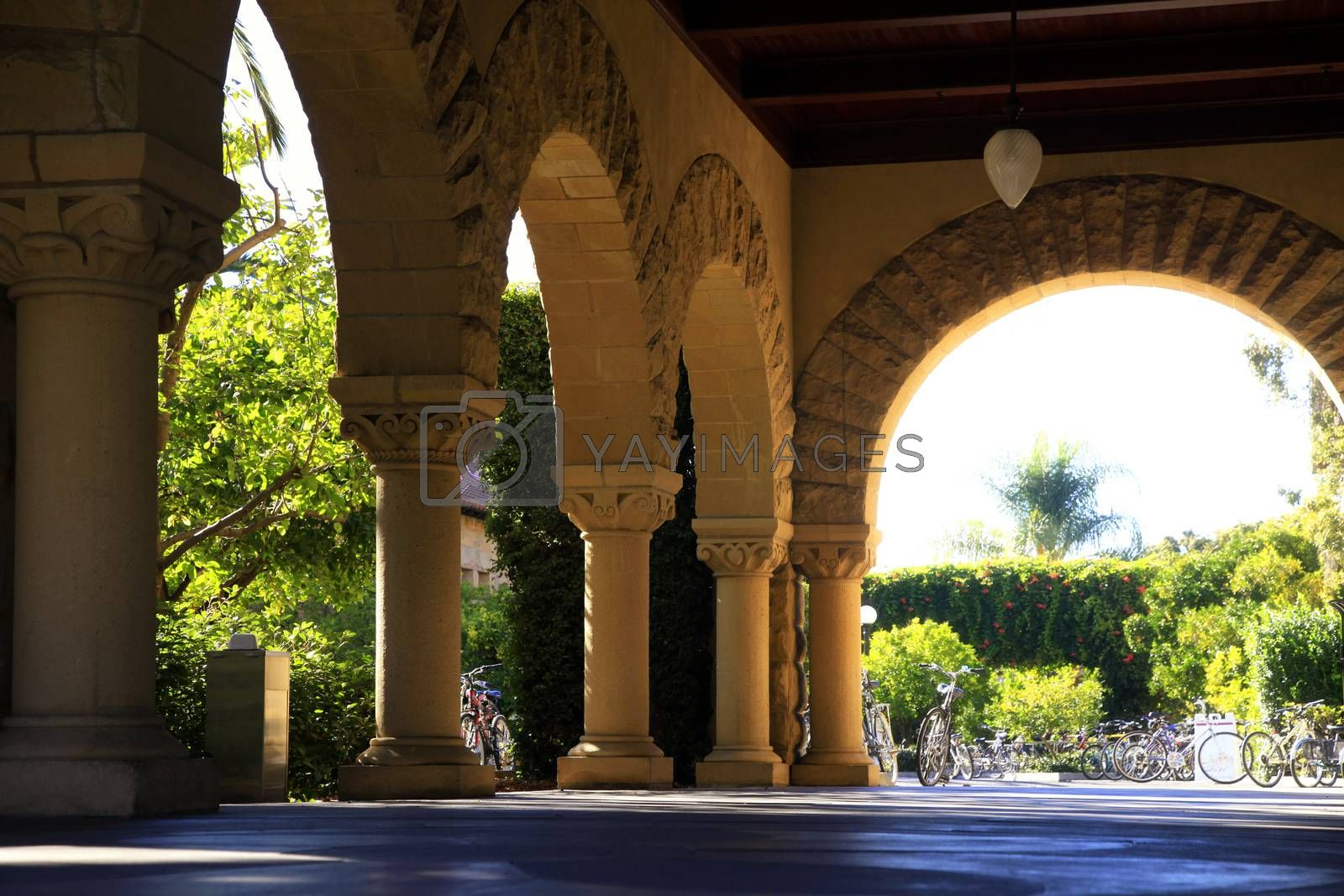 Royalty free image of Long corridor at Stanford by friday