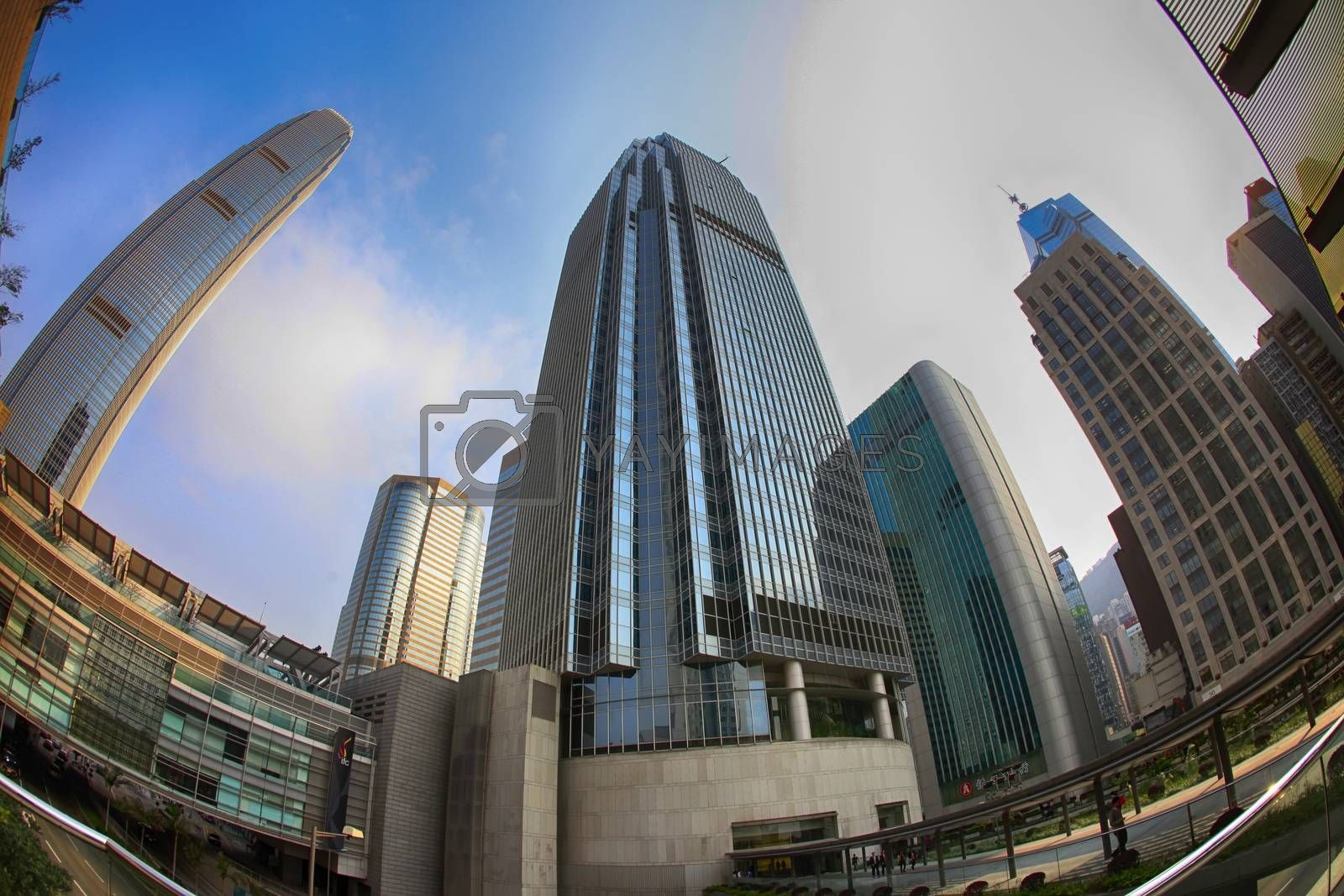 Hong Kong, Hong Kong S.A.R. - March 28, 2012: The International Finance Centre is a skyscraper and an integrated commercial development on the waterfront of Hong Kong's Central District.