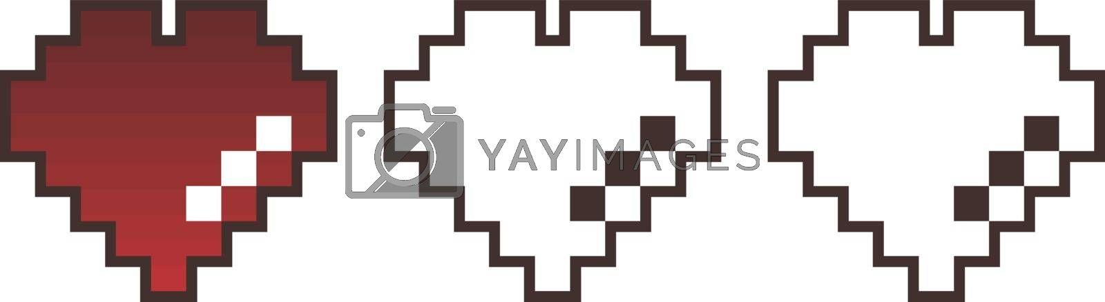 valentines day pixel art vector