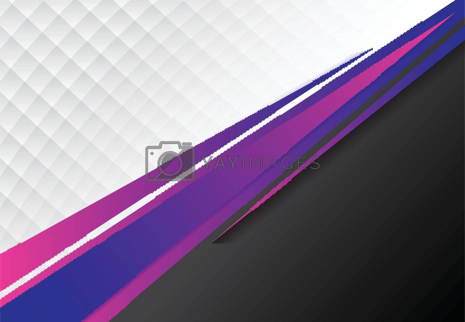 template corporate concept blue, purple and black, grey and white contrast background. Vector graphic design illustration, copy space