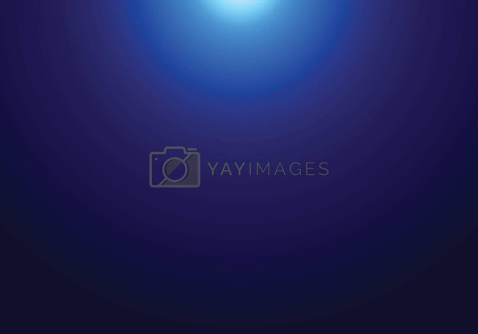Abstract dark blue background with light from the top. Vector illustration