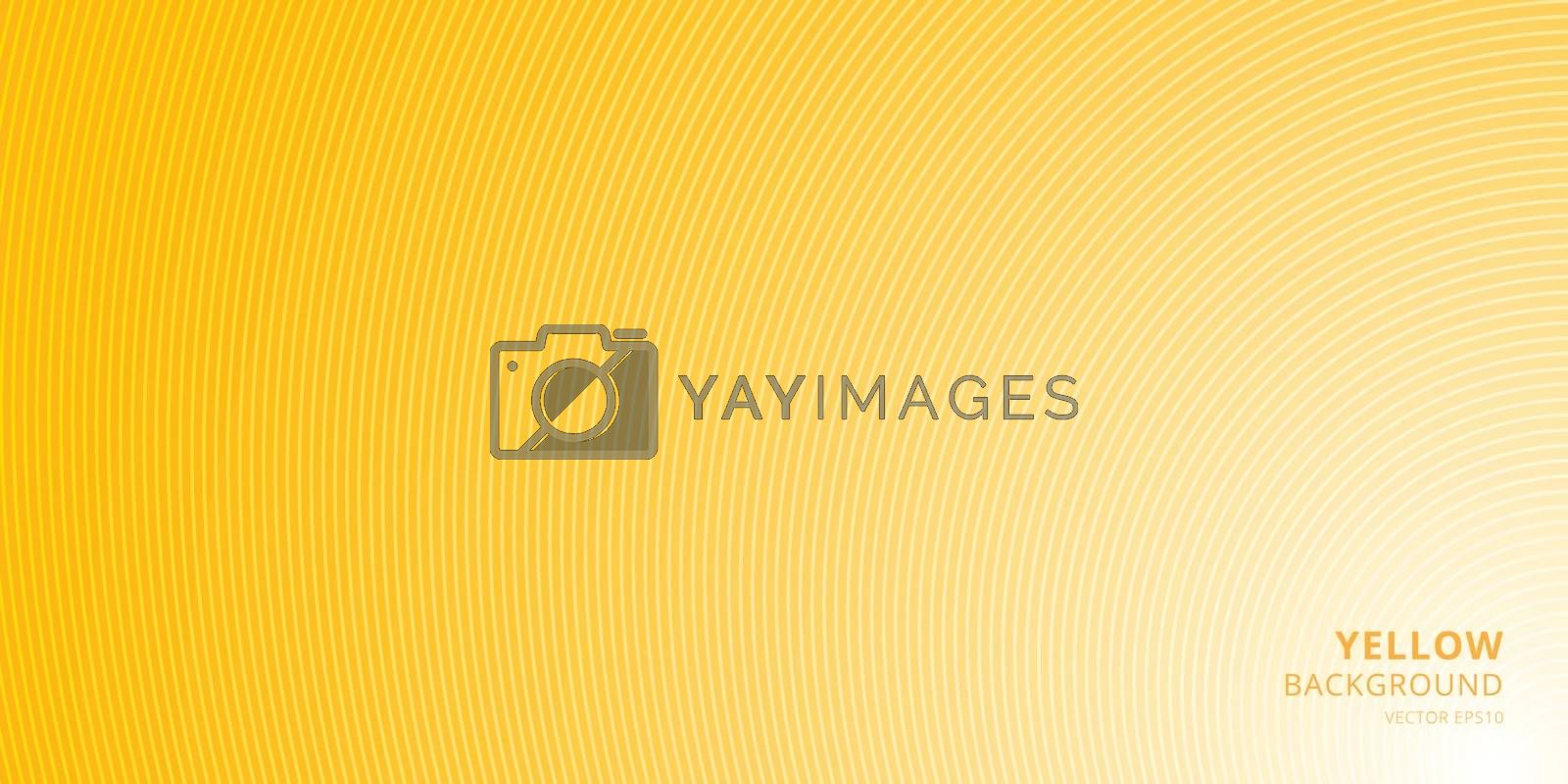 Smooth light yellow background with curved lines pattern texture with place for text. You can use cover brochure, card, banner web, poster, print, etc. Vector illustration