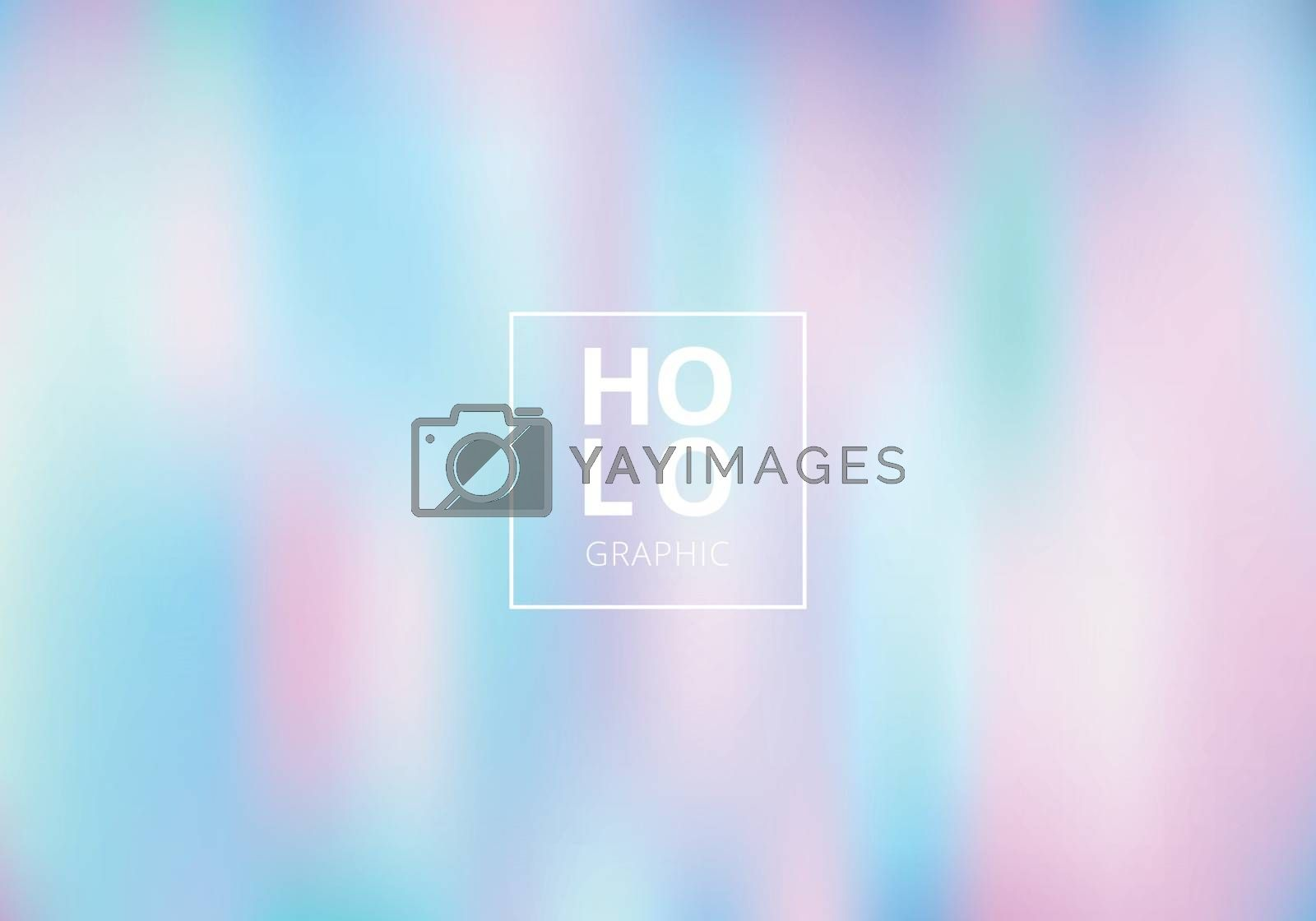 Abstract smoot blurred holographic gradient background. Hologram  Luxury trendy tender pearlescent. Vector illustration