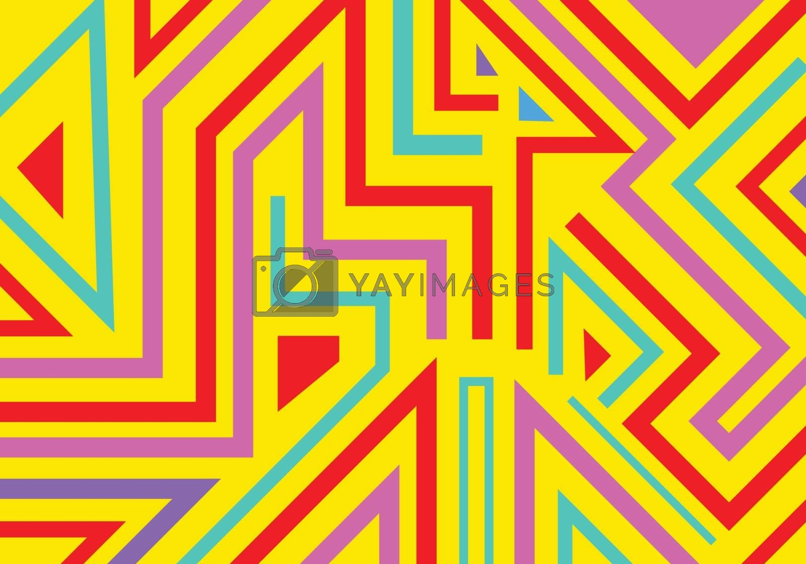 Abstract graffiti geometric shapes and lines pattern background pop art style. Vector illustration