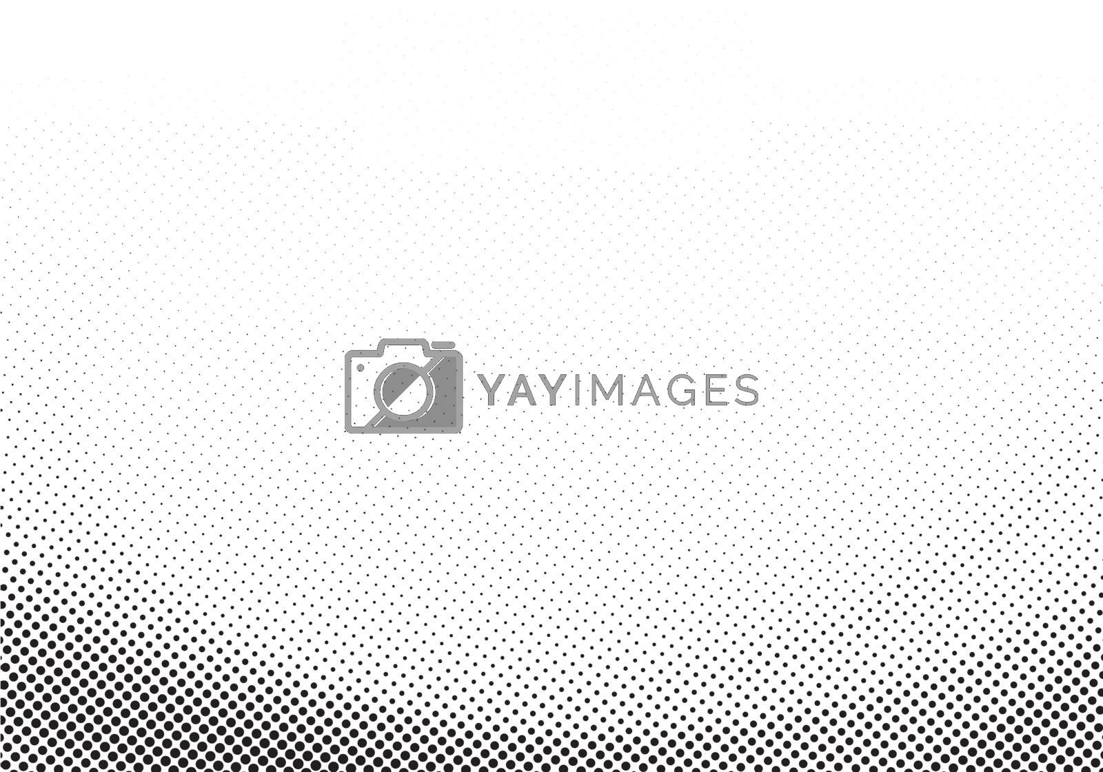 Abstract template black halftone elegant curve on white background with copy space. Vector illustration