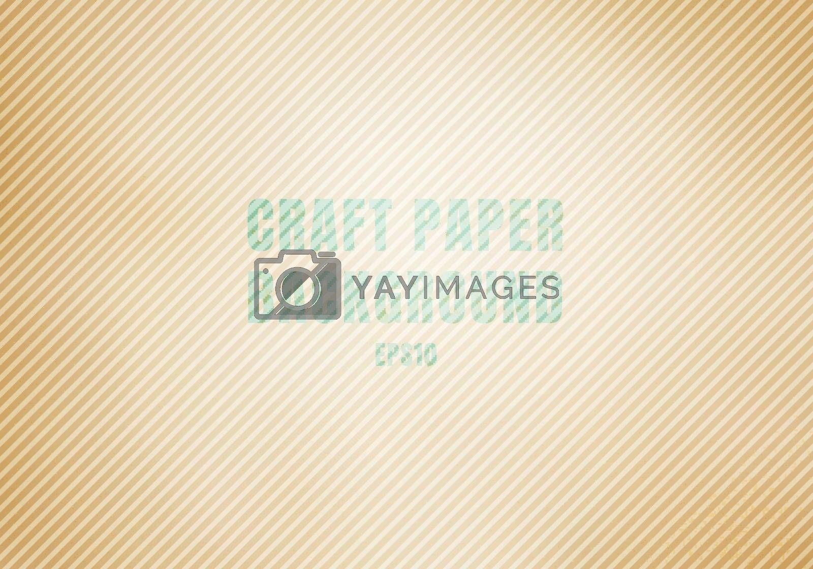 Craft paper brown corrugated cardboard stained texture background. Template Realistic Kraft recycled. Vector illustration