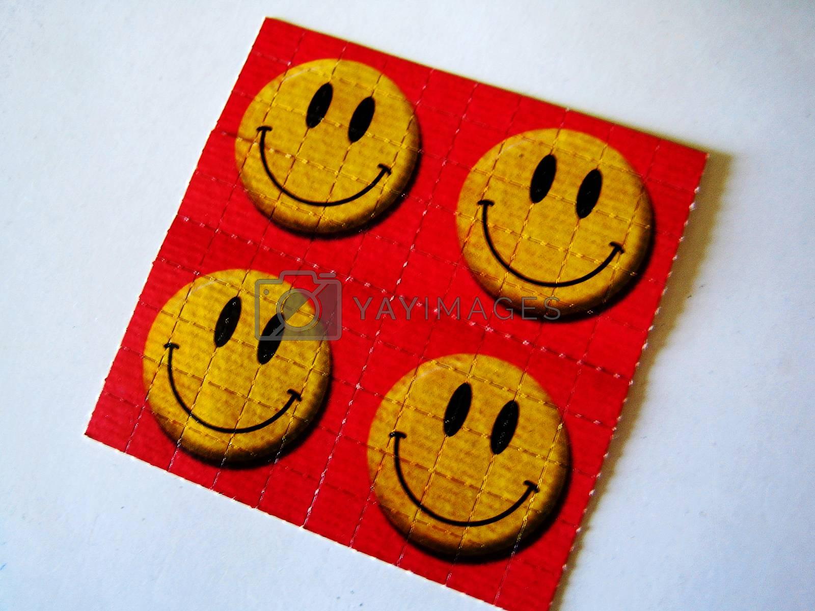 Smiley face sticker ls d tongue background fine art wallpaper