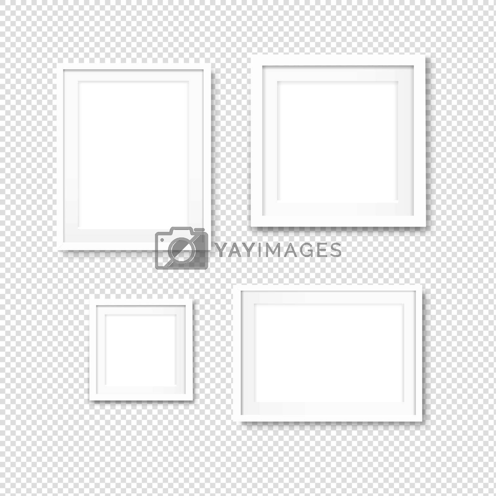 Picture Frame Set Isolated Transparent Background by cammep