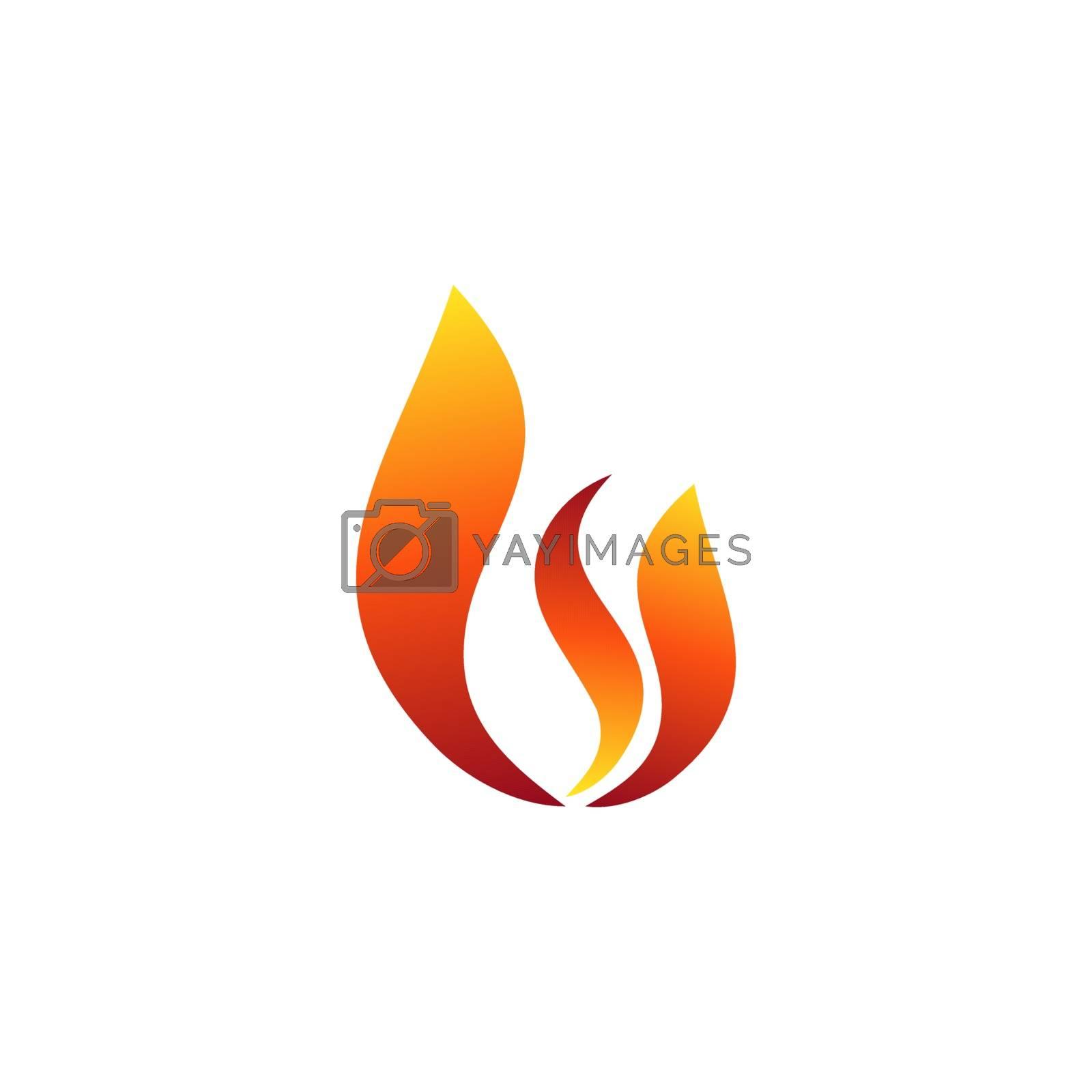 hot fire flame logo symbol icon design vector illustration