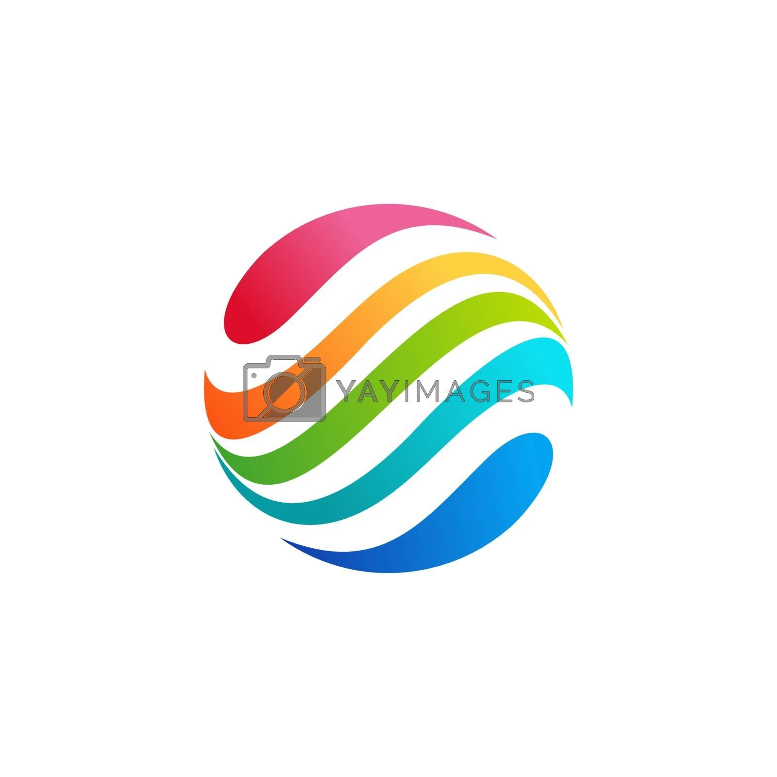 sphere circle droplet logo concept abstract motion wave element symbol icon vector design