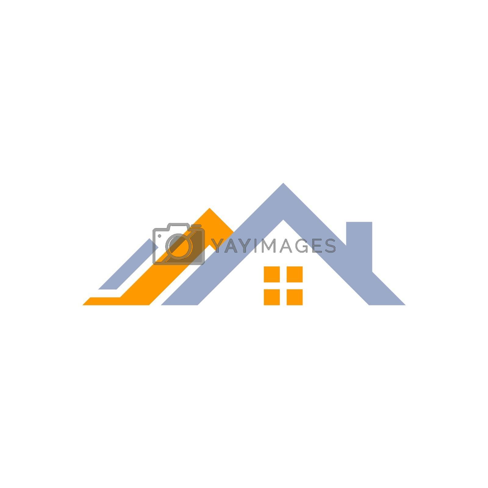 house home logo concept real estate symbol icon vector design illustration