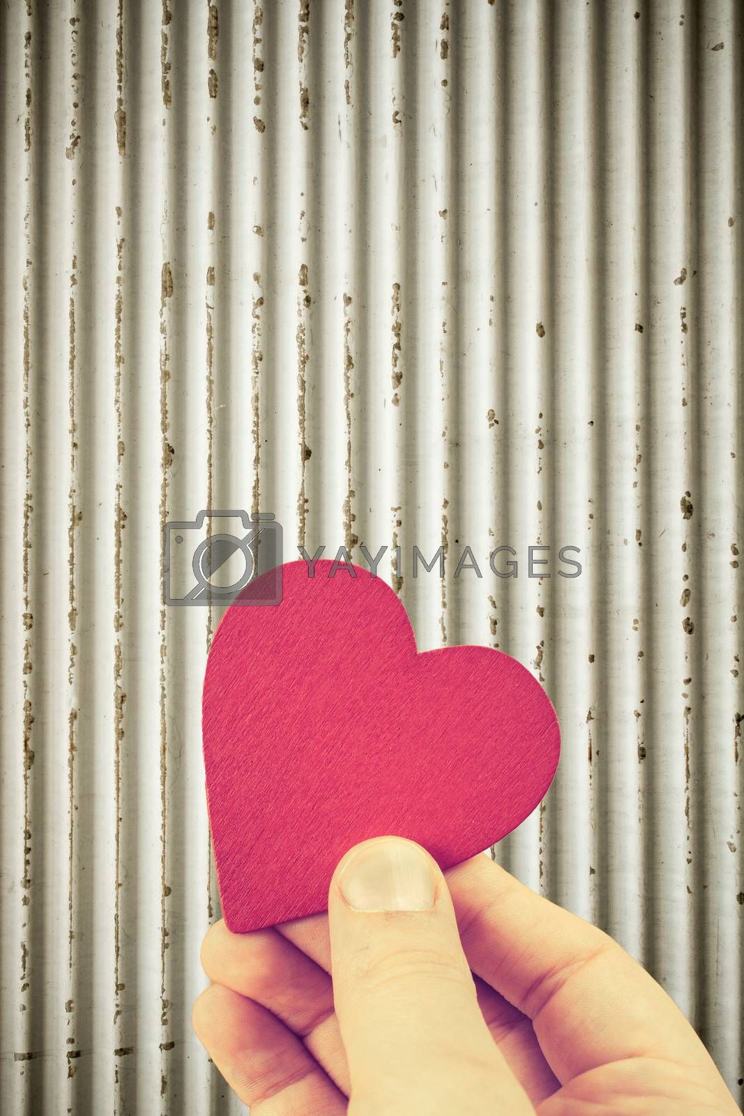 Red heart shaped object as valentine day concept by berkay