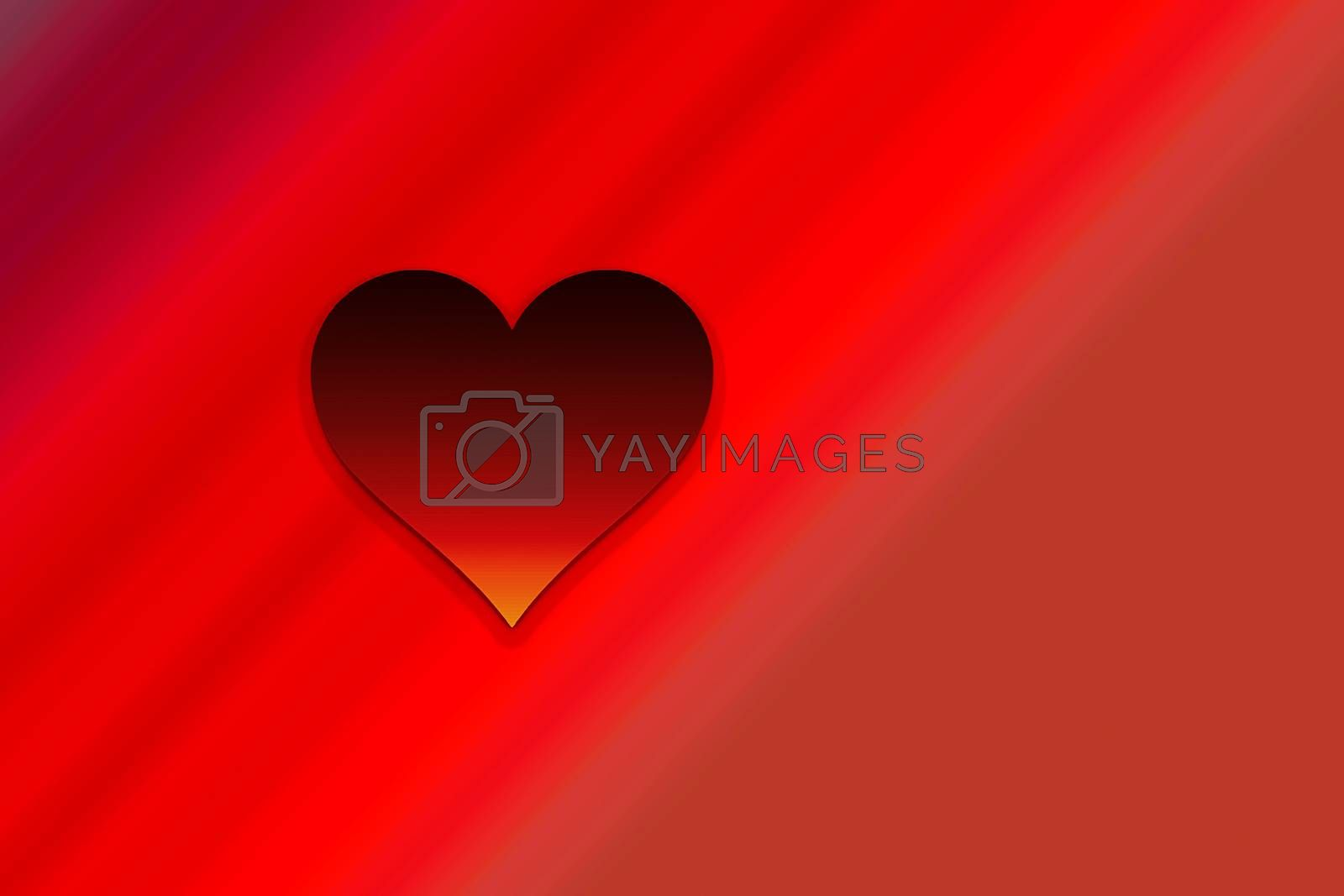 Valentine's Day Background with red Heart Shape as Love concept by berkay