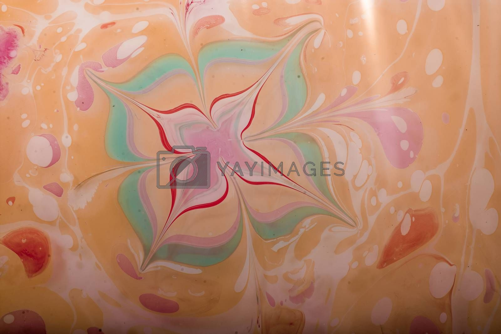 Grunge abstract paint patterns on colorful background