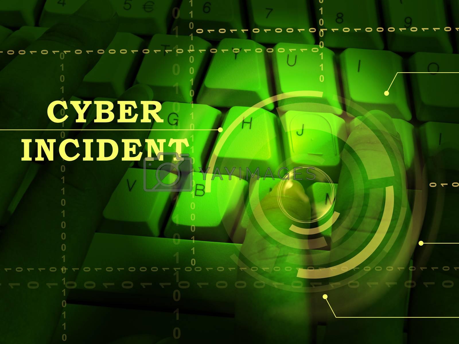Cyber Incident Data Attack Alert 3d Illustration by stuartmiles