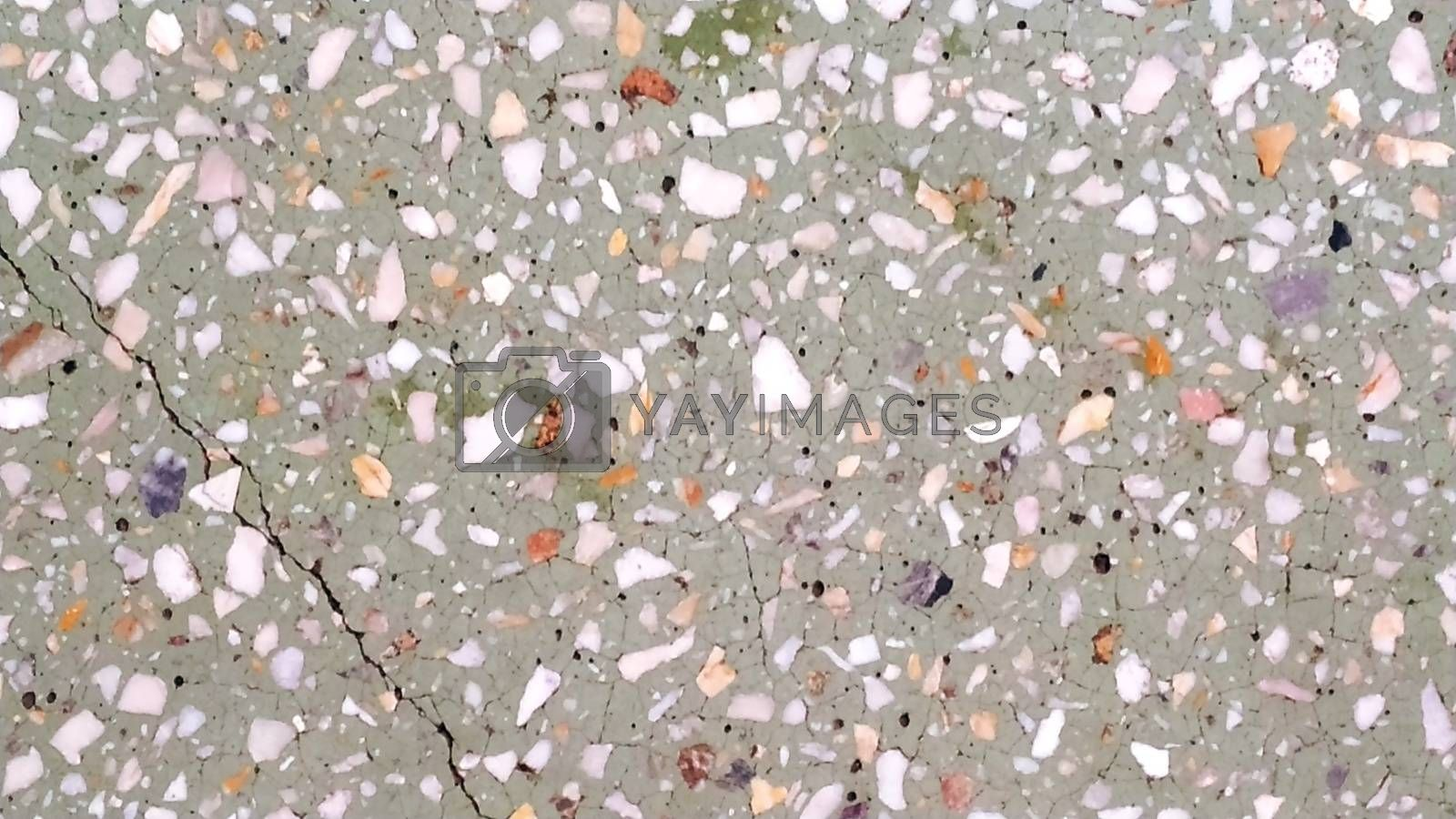 Stone mosaic, multicolored cracked Close-up
