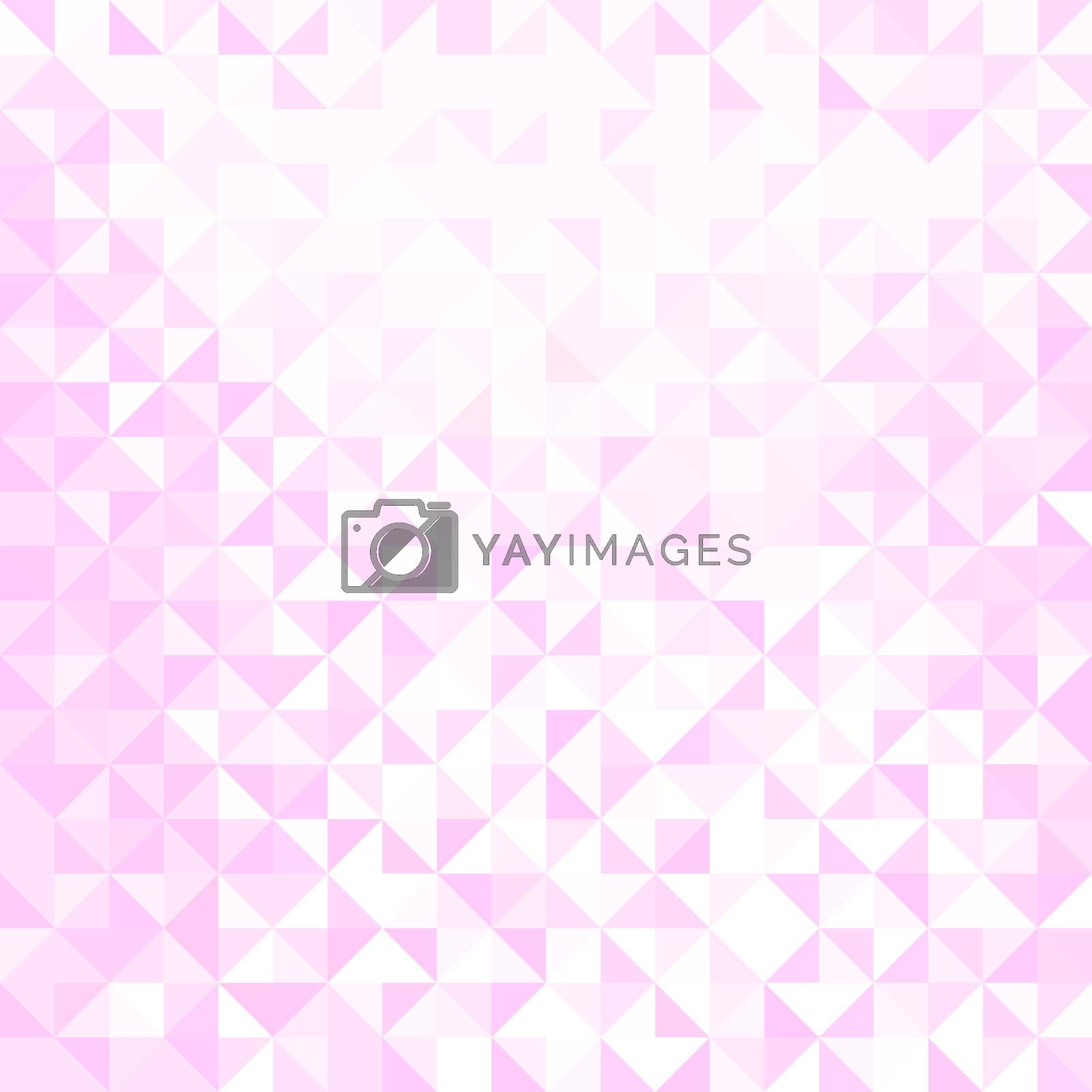 Light pink and white triangle shapes pattern. Abstract geometric background.