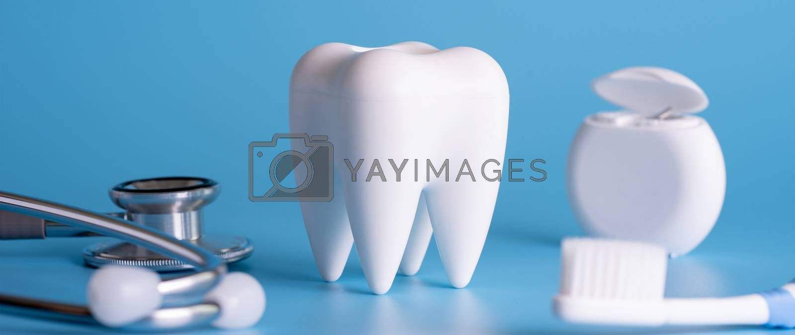 Dental concept healthy equipment  tools dental care Professional  banner