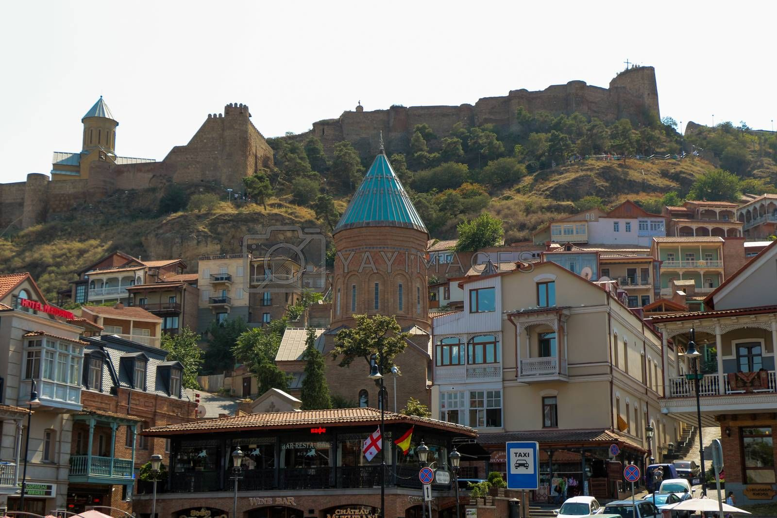 Tbilisi Old Town, the Historic district of the capital of Georgia