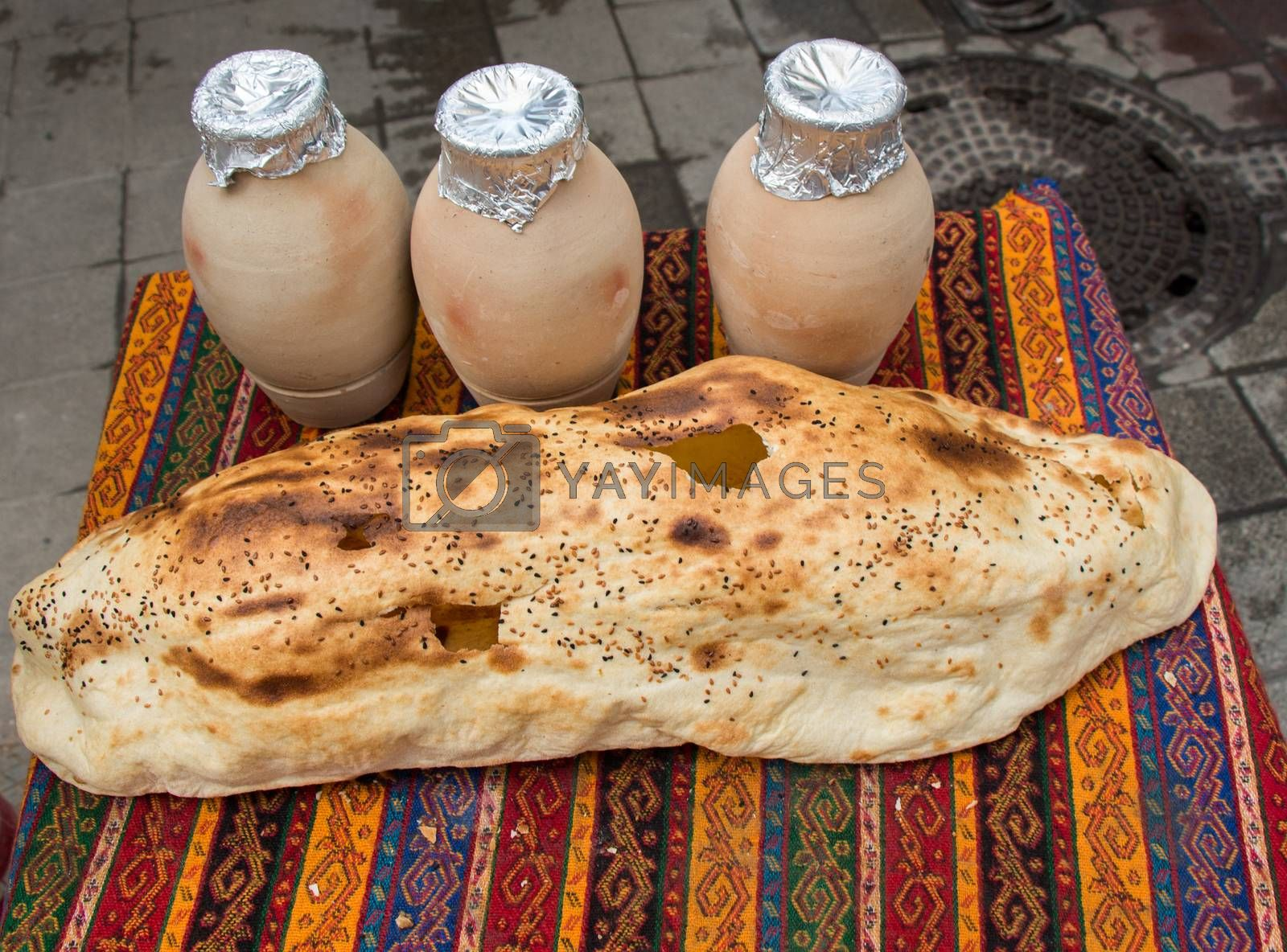 Traditional Turkish style made bread  by berkay