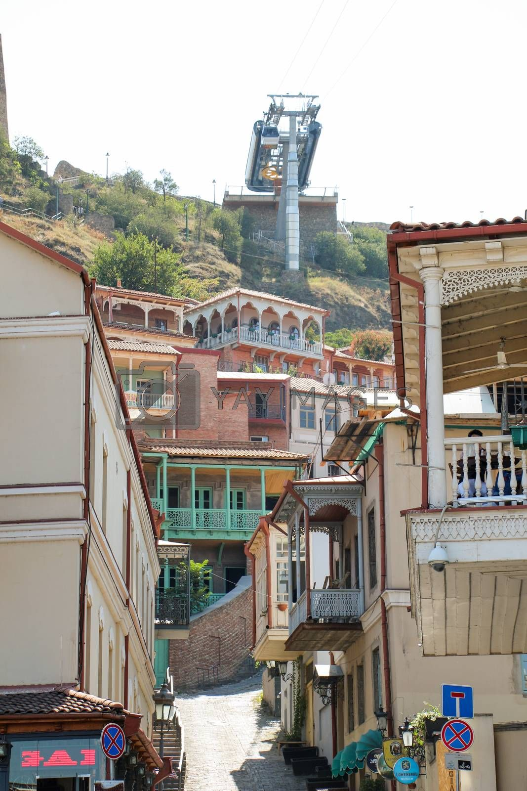 View of traditional narrow streets of Old Tbilisi