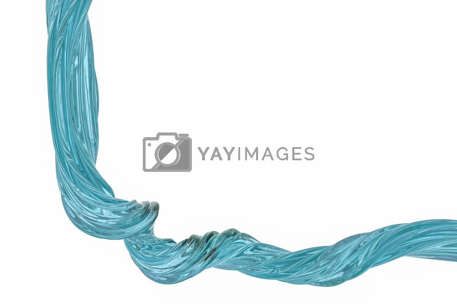 3d rendering, colorful transparent silk by vinkfan