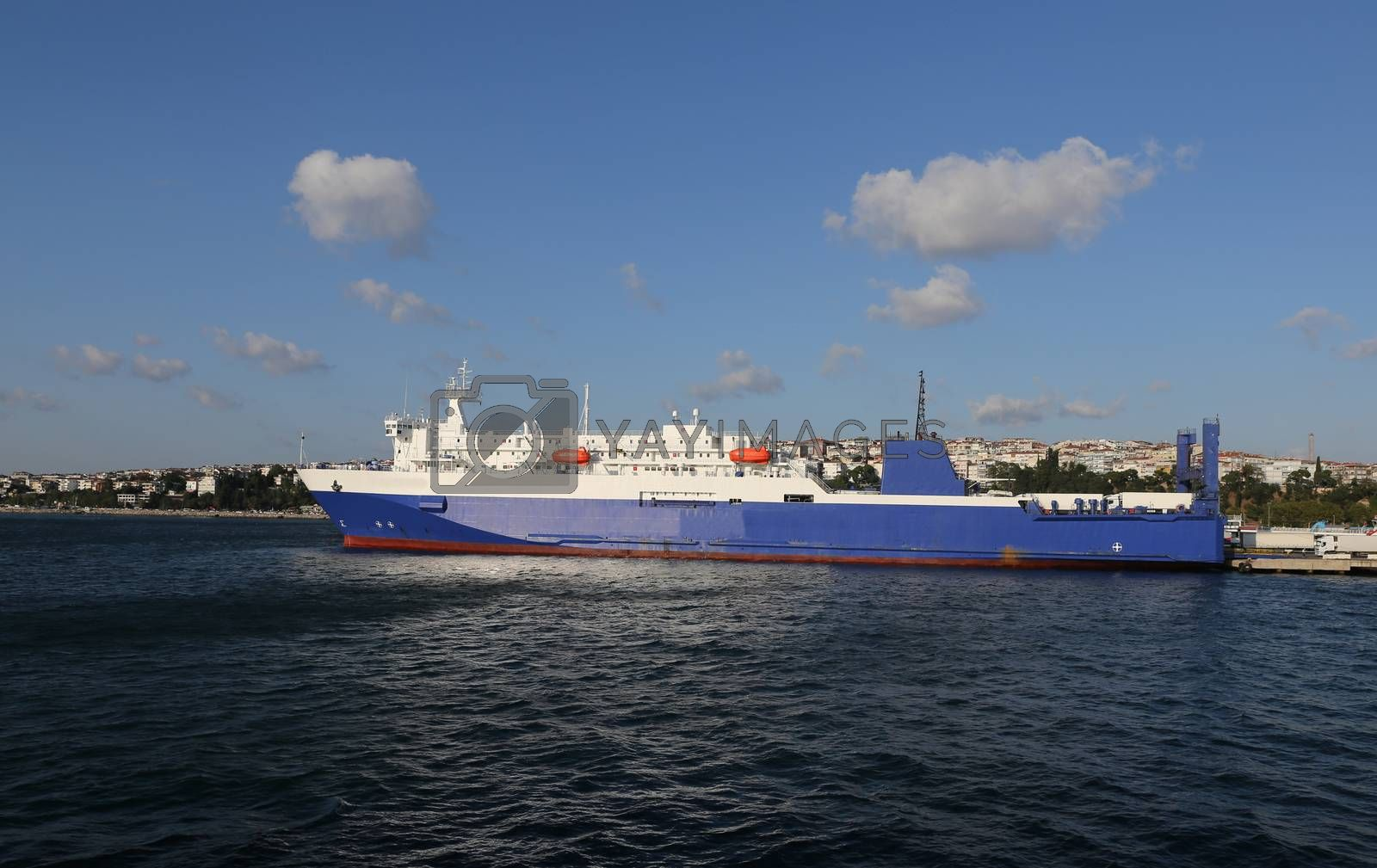 Roro Ship in Port by EvrenKalinbacak