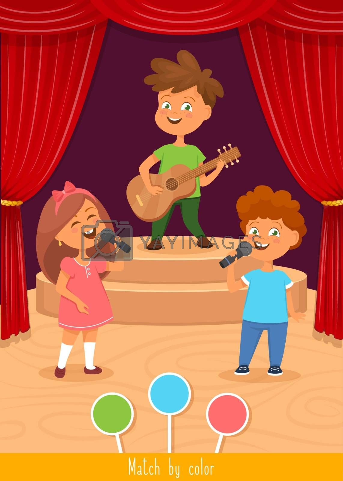 Toddlers activity, educational children game, vector illustration