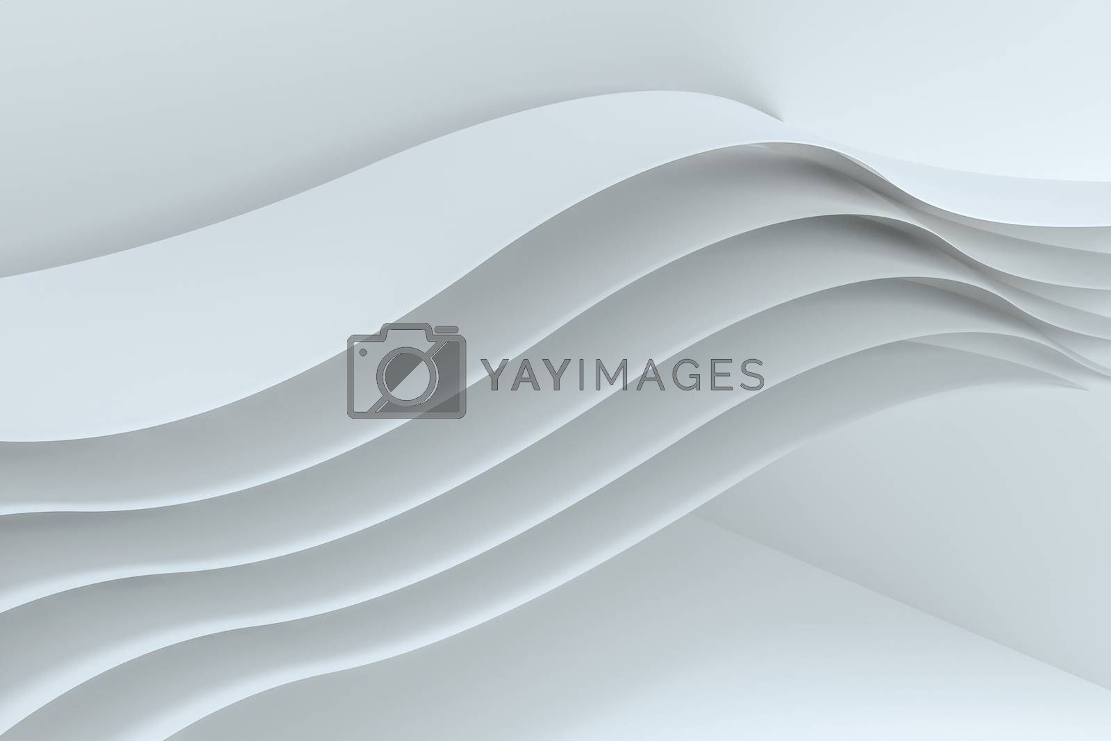 3d rendering curve paper background, tint color background by vinkfan