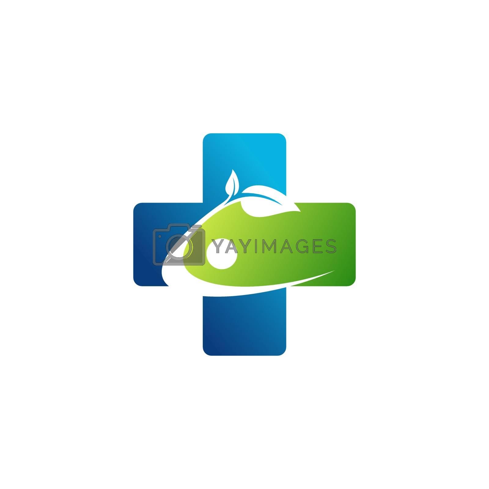 people health medicine plus logo symbol icon vector design illustration