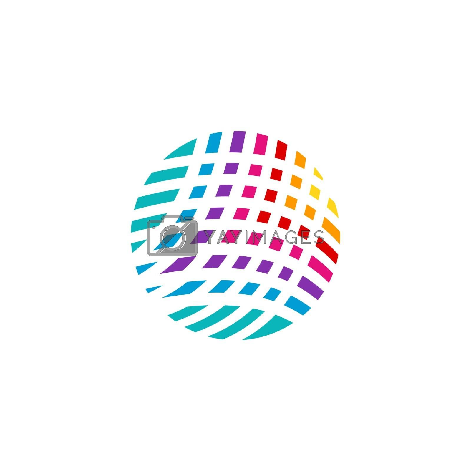 global sphere elements geometric digital abstract logo symbol icon vector design illustration