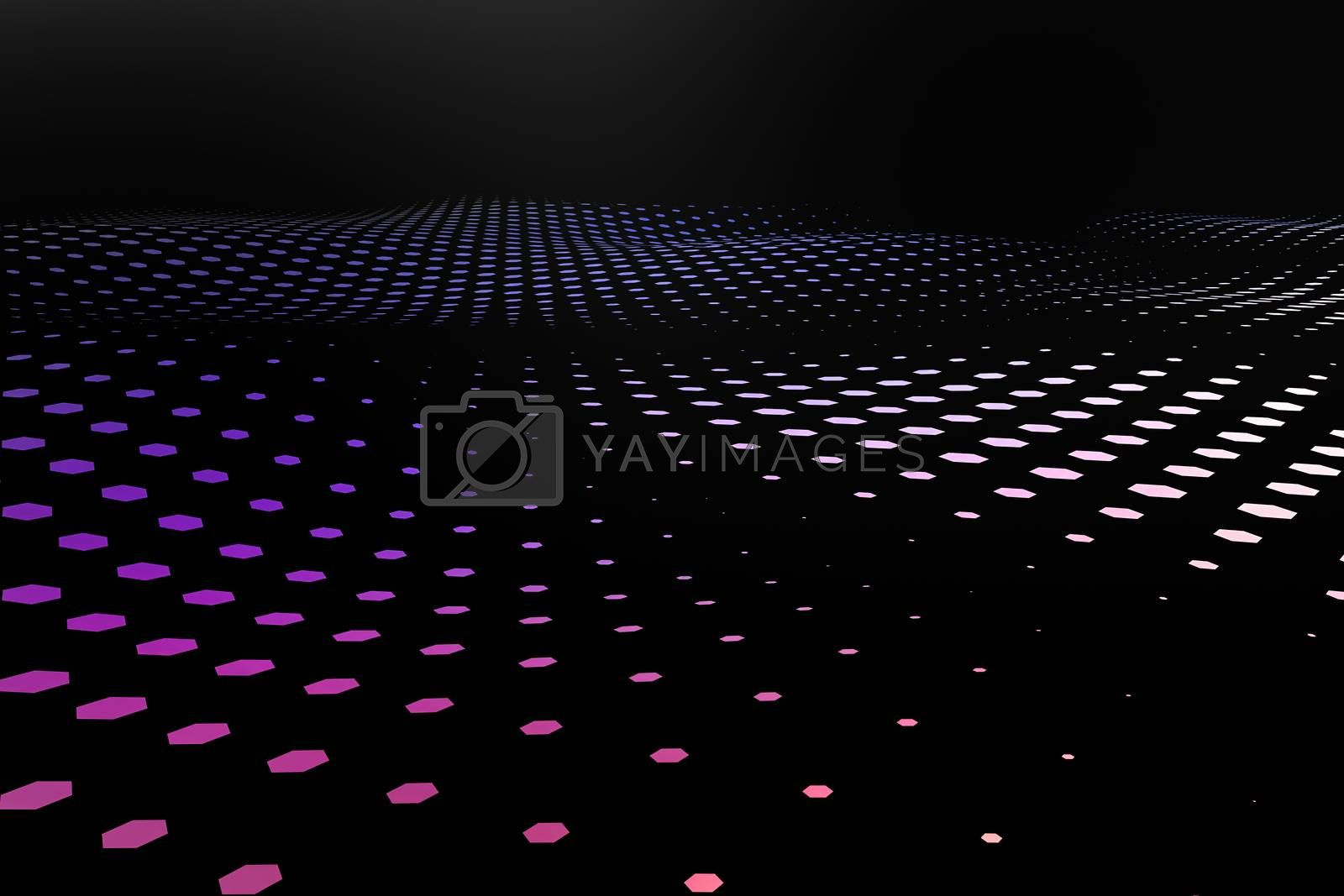 3d rendering, flow dot with gradient background by vinkfan