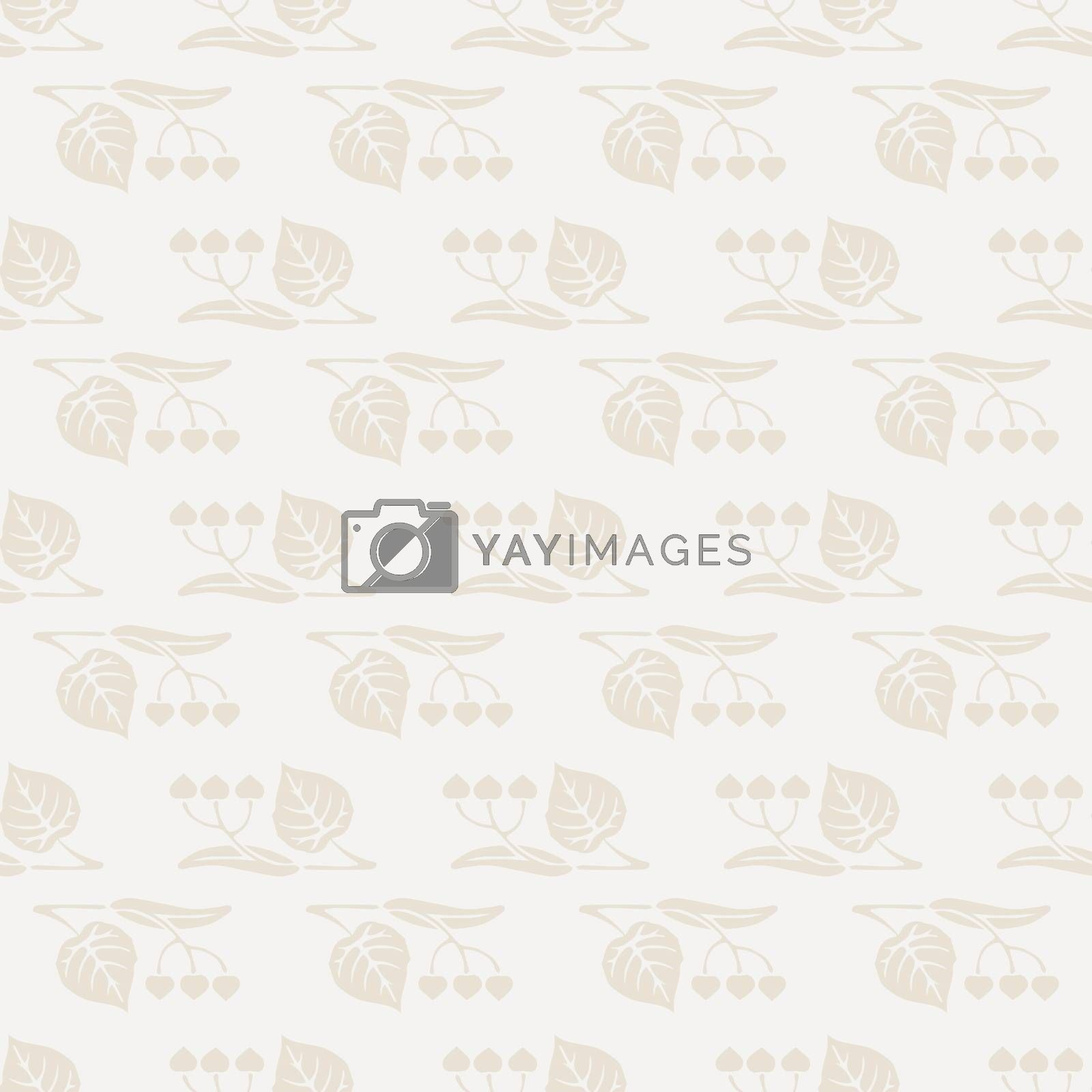 Cute retro seamless pattern with flowers and leaves by Musjaka0